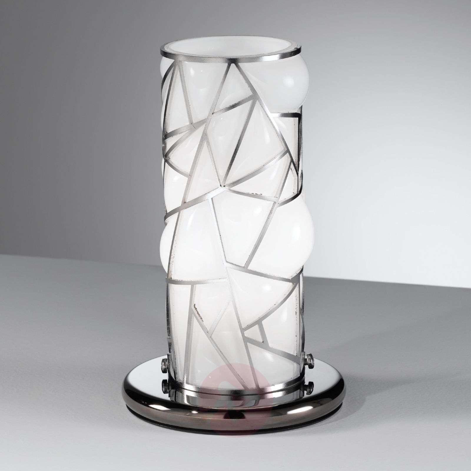 Orione-pöytävalaisin teräselementeillä, valkoinen-8581078-01