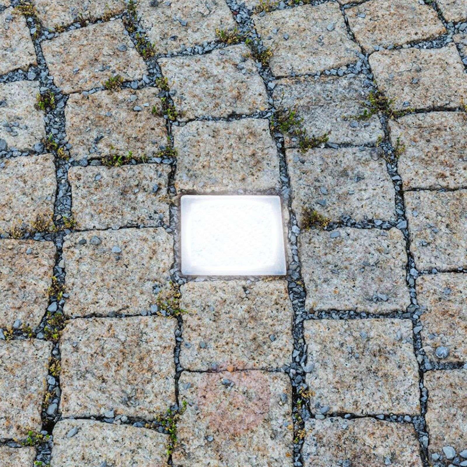 Päällä kävelyn kestävä Mukulakivi 10-LED-maavalo-9505943-08