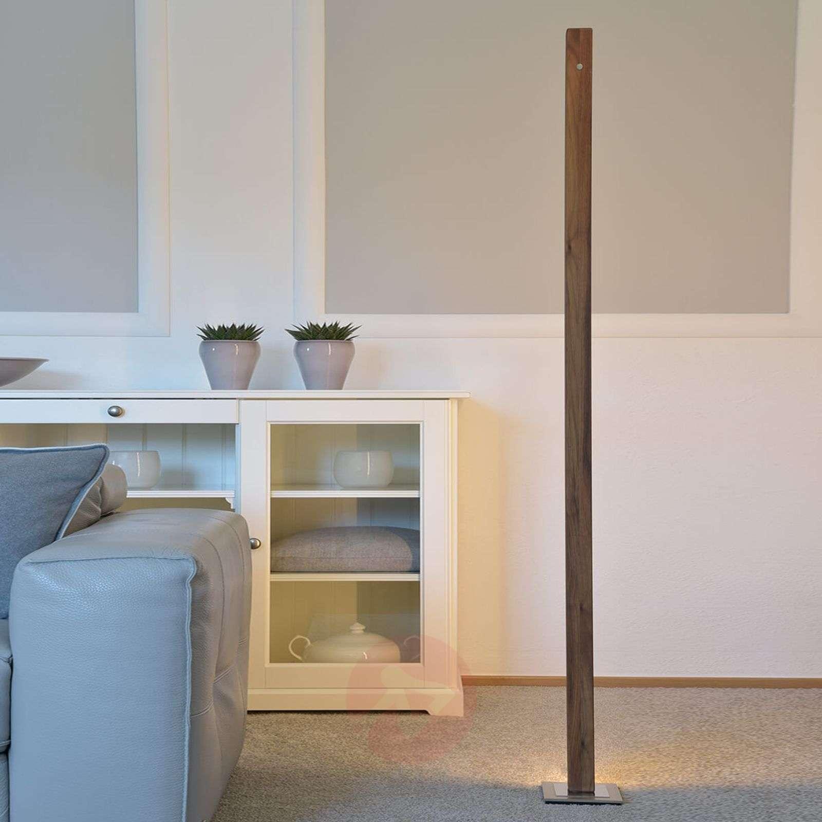 Pähkinäpuinen LED-lattiavalaisin Leonora himmennin-4543003X-02