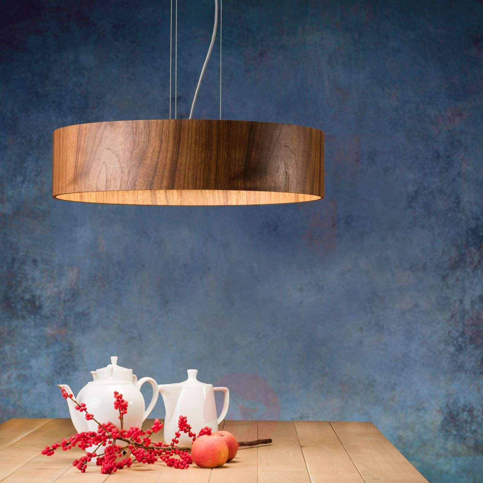 Pähkinäpuinen riippuvalo Lara Wood led-lampuilla-2600525-01