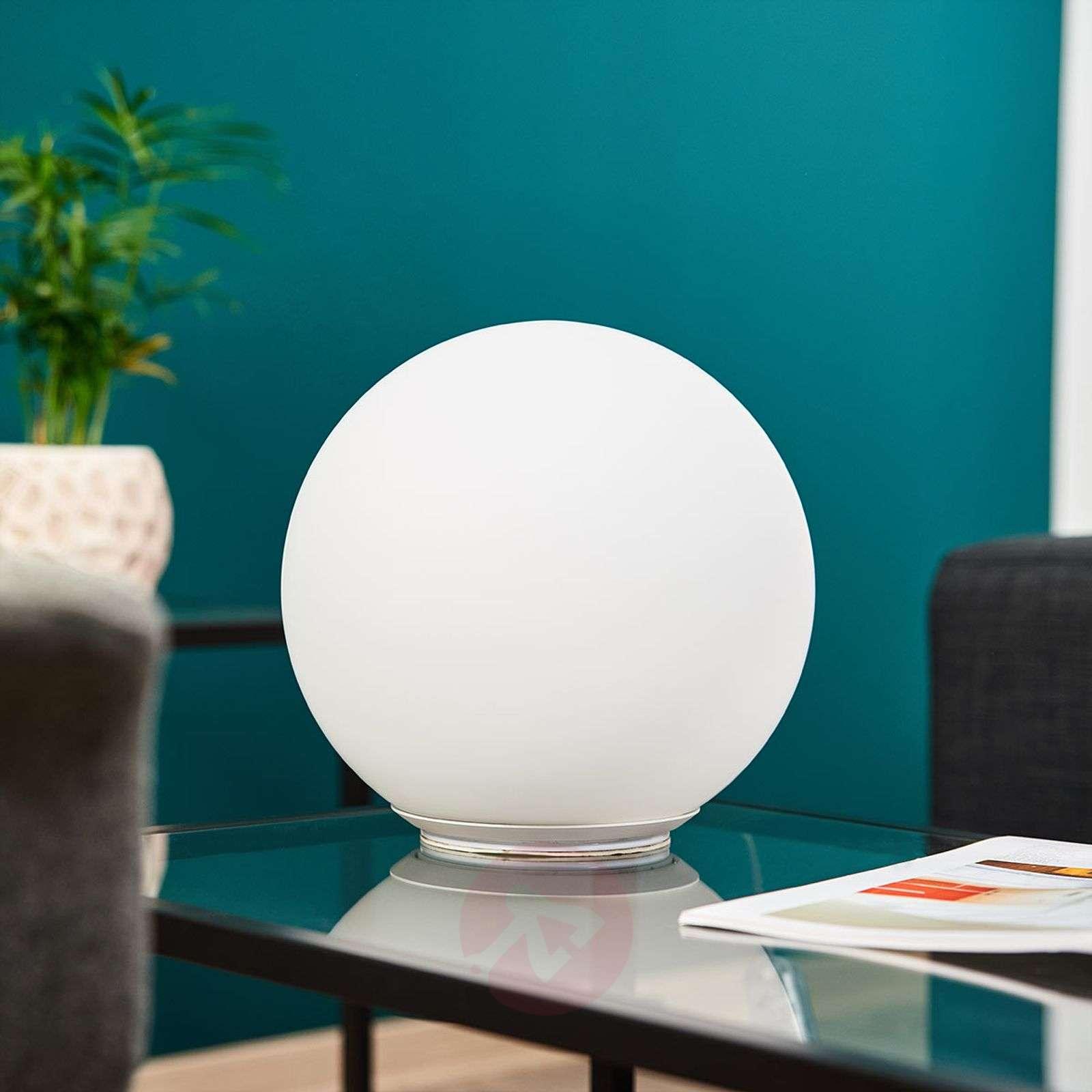 Pallonmuotoinen lasinen pöytälamppu Dioscuri 25 cm-1060038-01