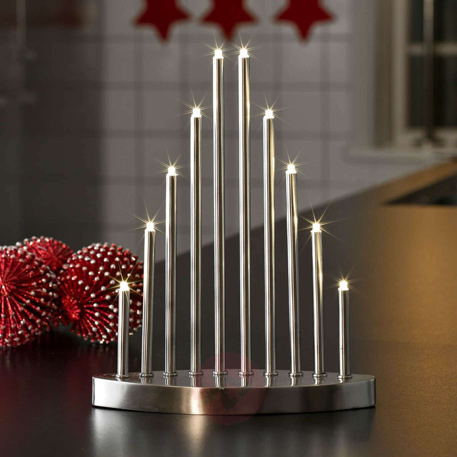 Pelkistetty LED-kynttelikkö Aiona 10-lamppuinen-5524678-01