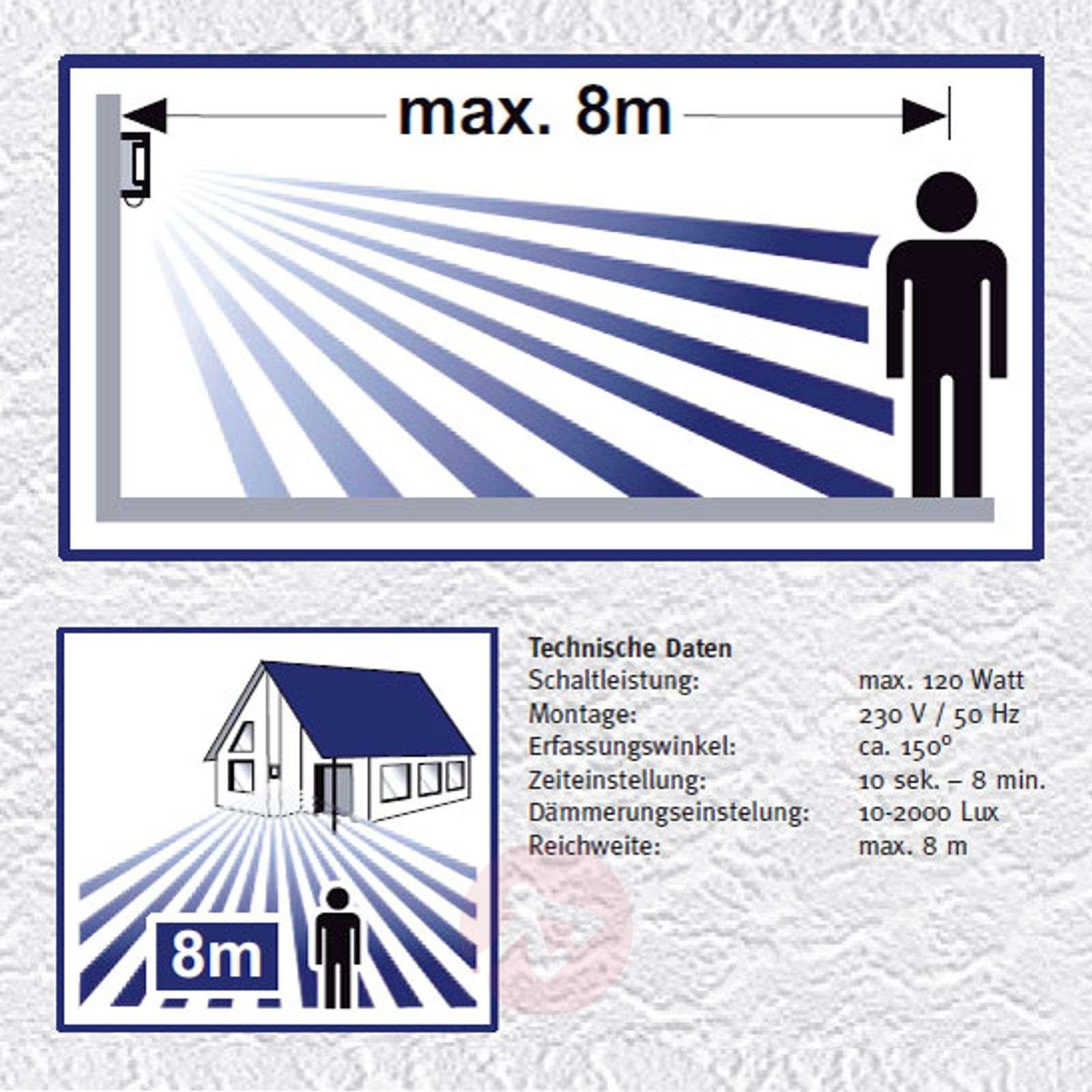 Pelkistetty Marco3-ulkoseinävalaisin, sensorilla-2011021-012