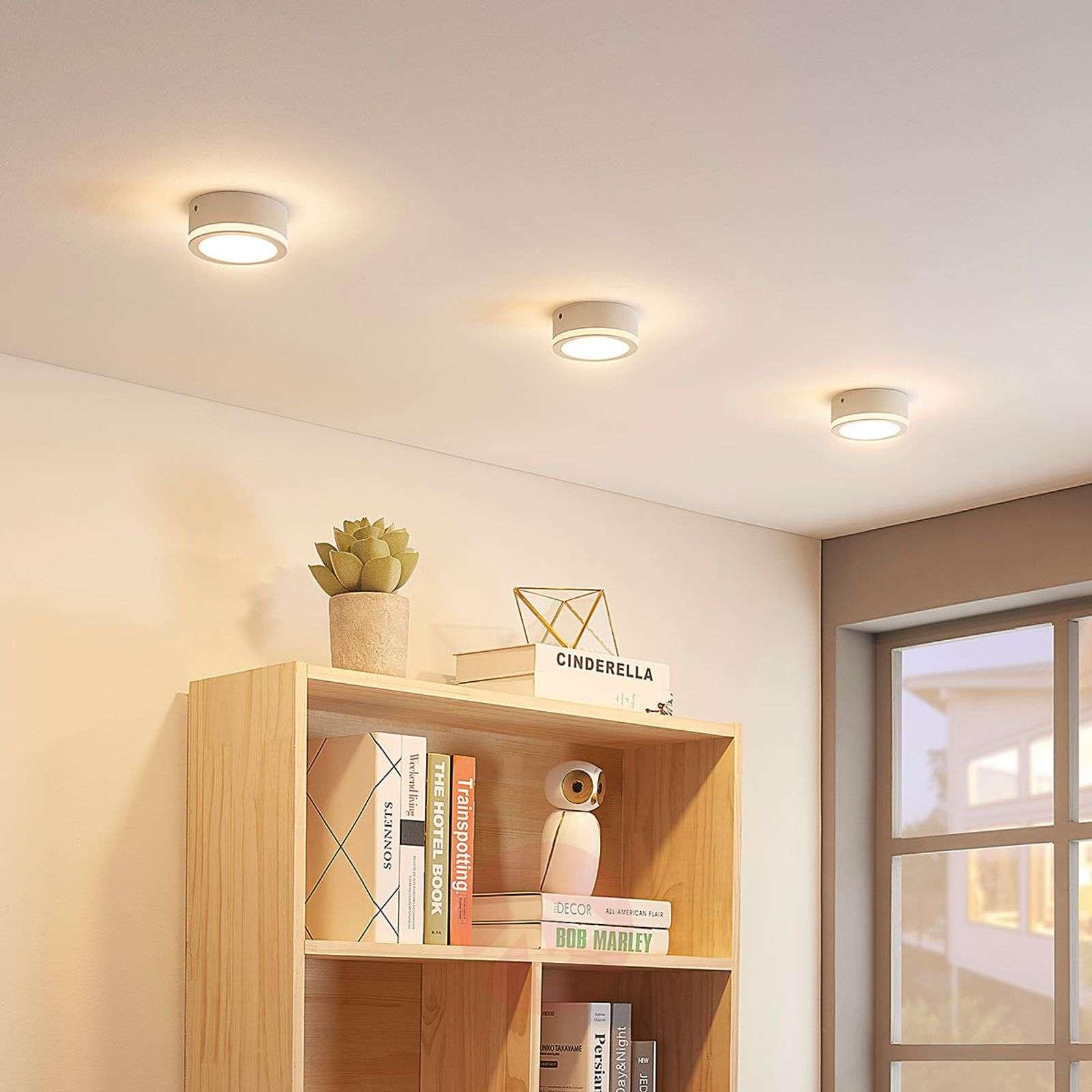 Pelkistetty pyöreä LED-kattovalaisin Quirina-9624202-021