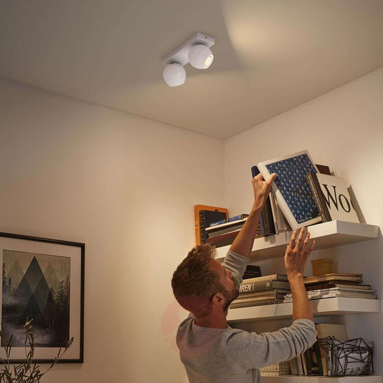 Philips Hue Buckram 2-lamppuinen valkoinen-7532050-01