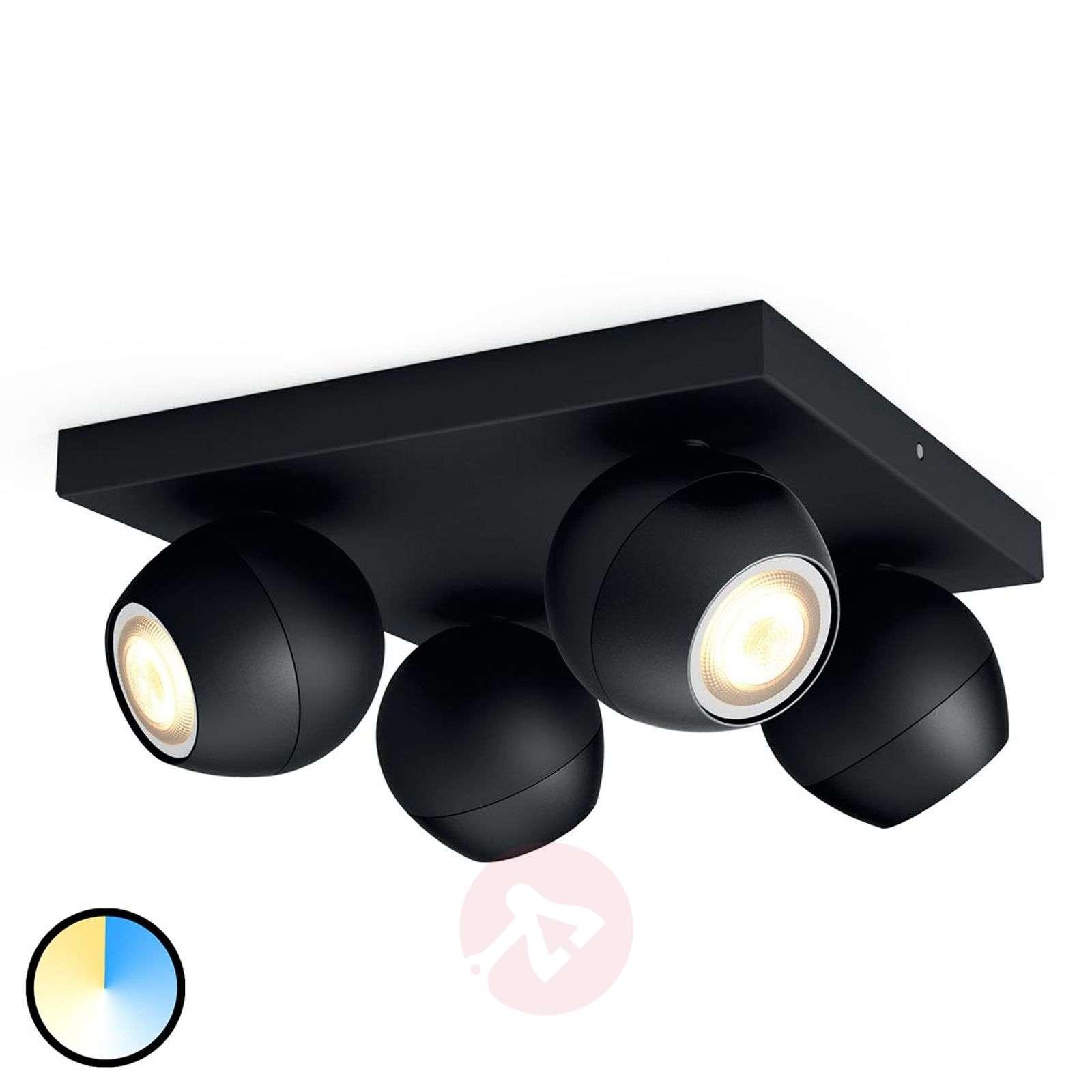 Philips Hue Buckram 4-lamppuinen musta-7532055-01