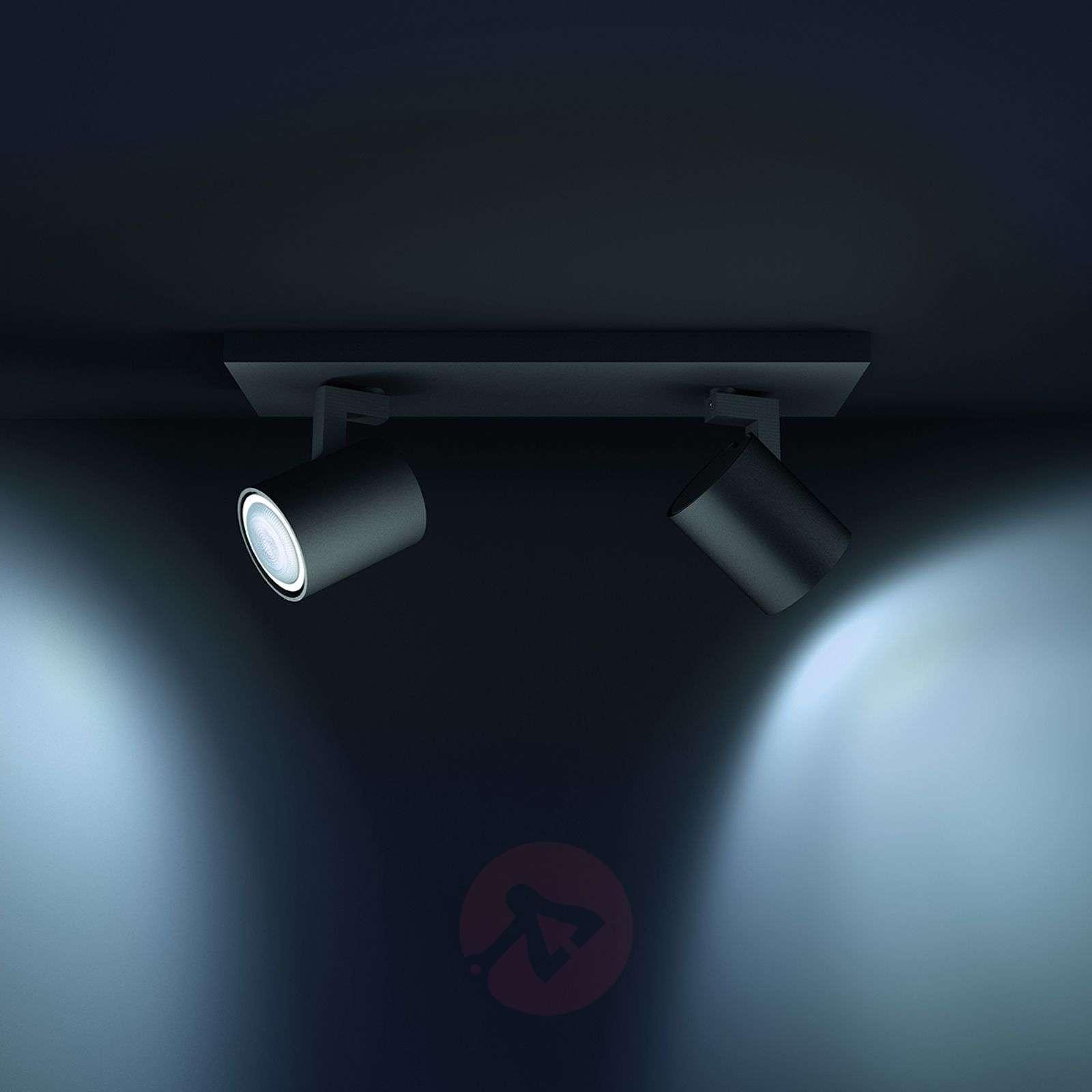 Philips Hue Runner kohdevalo 2-lamppuinen musta-7531890-01