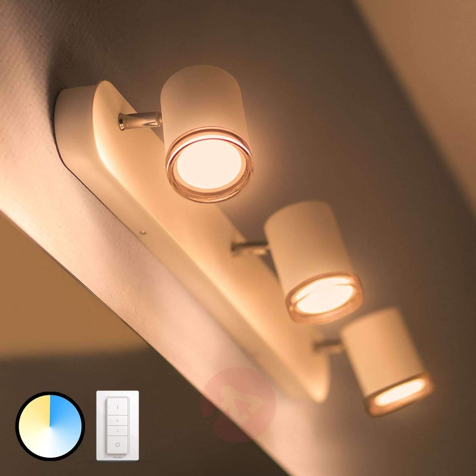 Philips Hue White Ambiance Adore, LED-spotti 3-l.-7534073-02