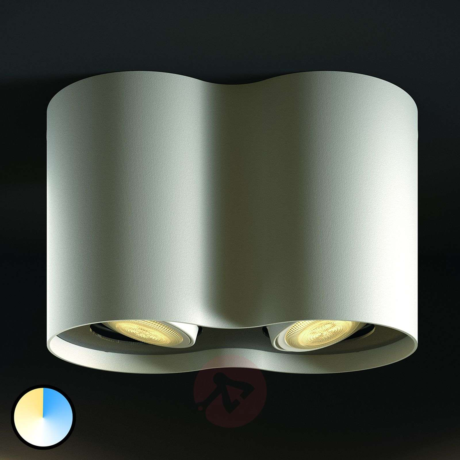 Philips Hue White Ambiance Pillar 2-lampp. valk.-7531883-01