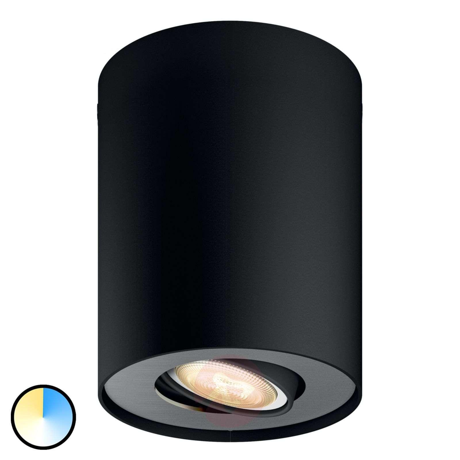 Philips Hue White Ambiance Pillar musta-7531878-01