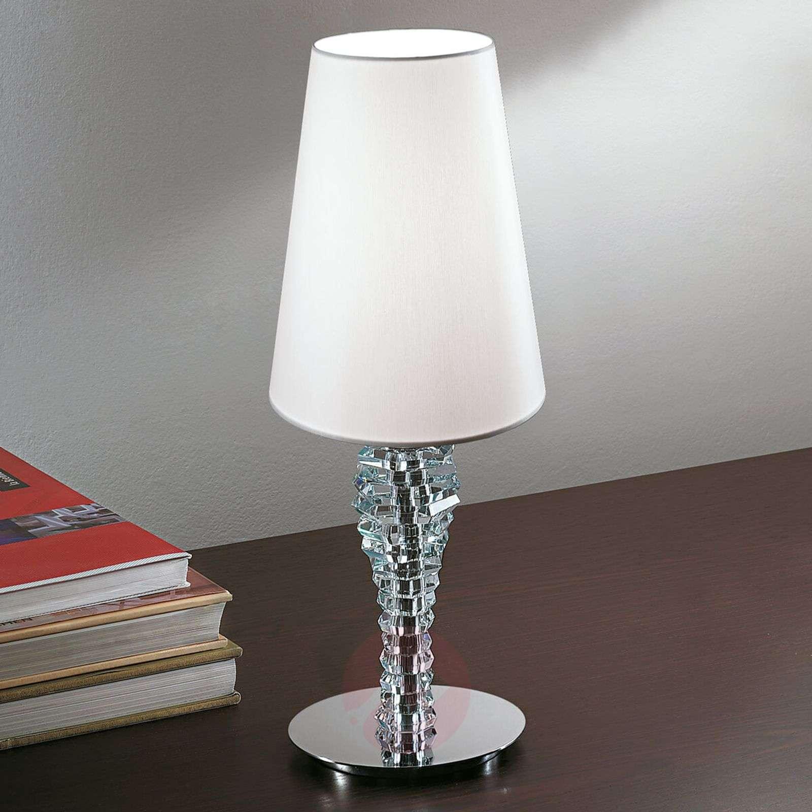 Pieni pöytävalaisin Crystal valkoinen-6059420-01