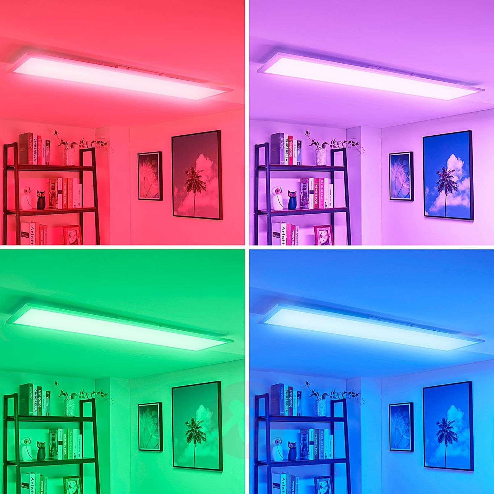 Pitkä LED-kattovalaisin Tinus, RGB ja lämmin valk.-9621654-04