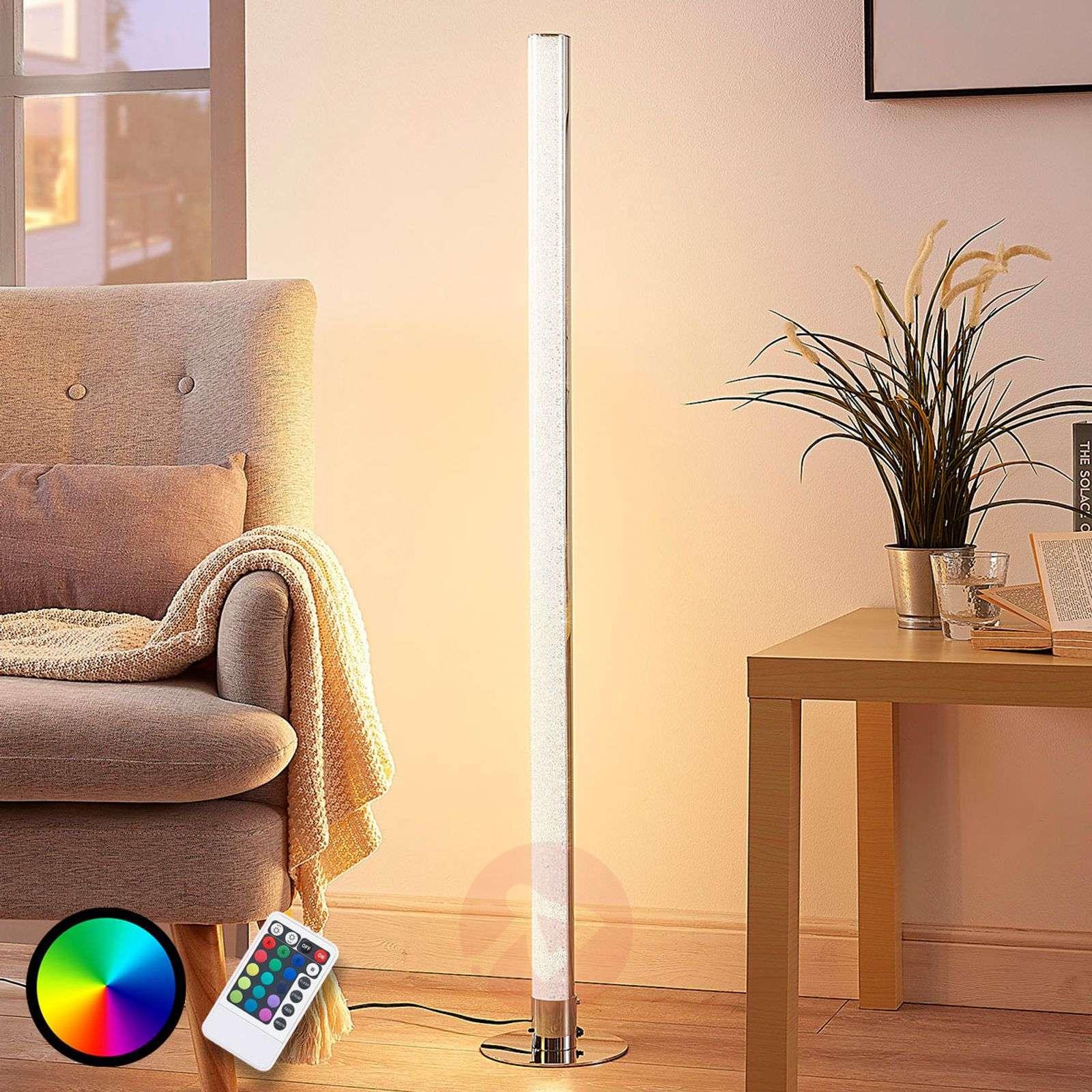 Pitkä LED-RGB-lattiavalaisin Hadis, himmennettävä-9621743-02