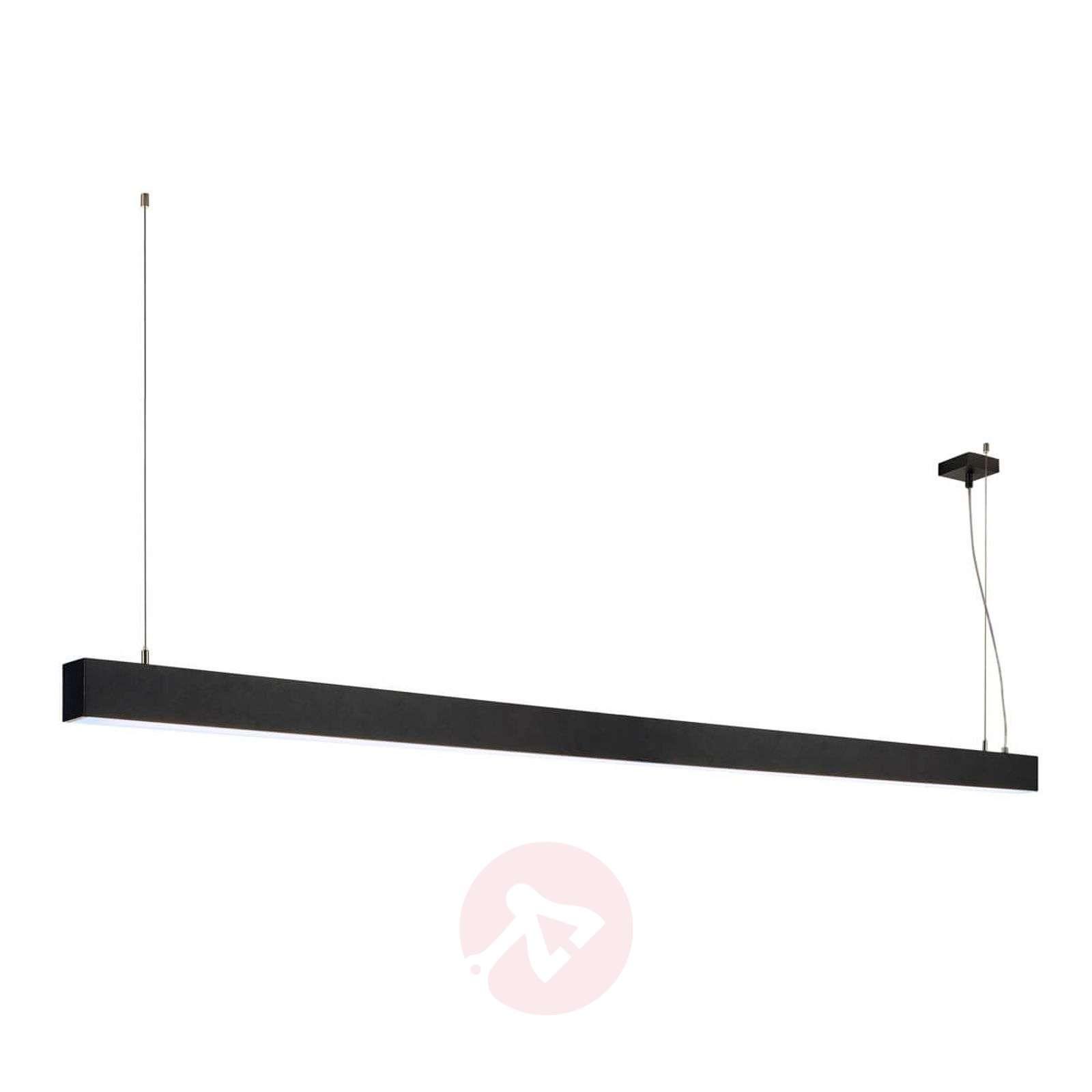 Pitkä LED-riippuvalaisin Glenos 200,5 cm musta-5504750-01