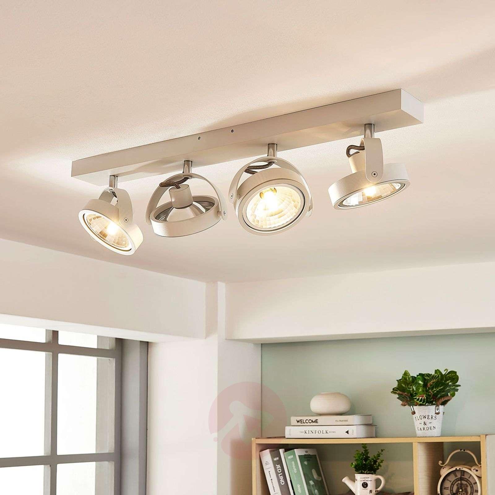 Pitkänomainen LED-kattolamppu Lieven, 4-os. valkea-9621525-01
