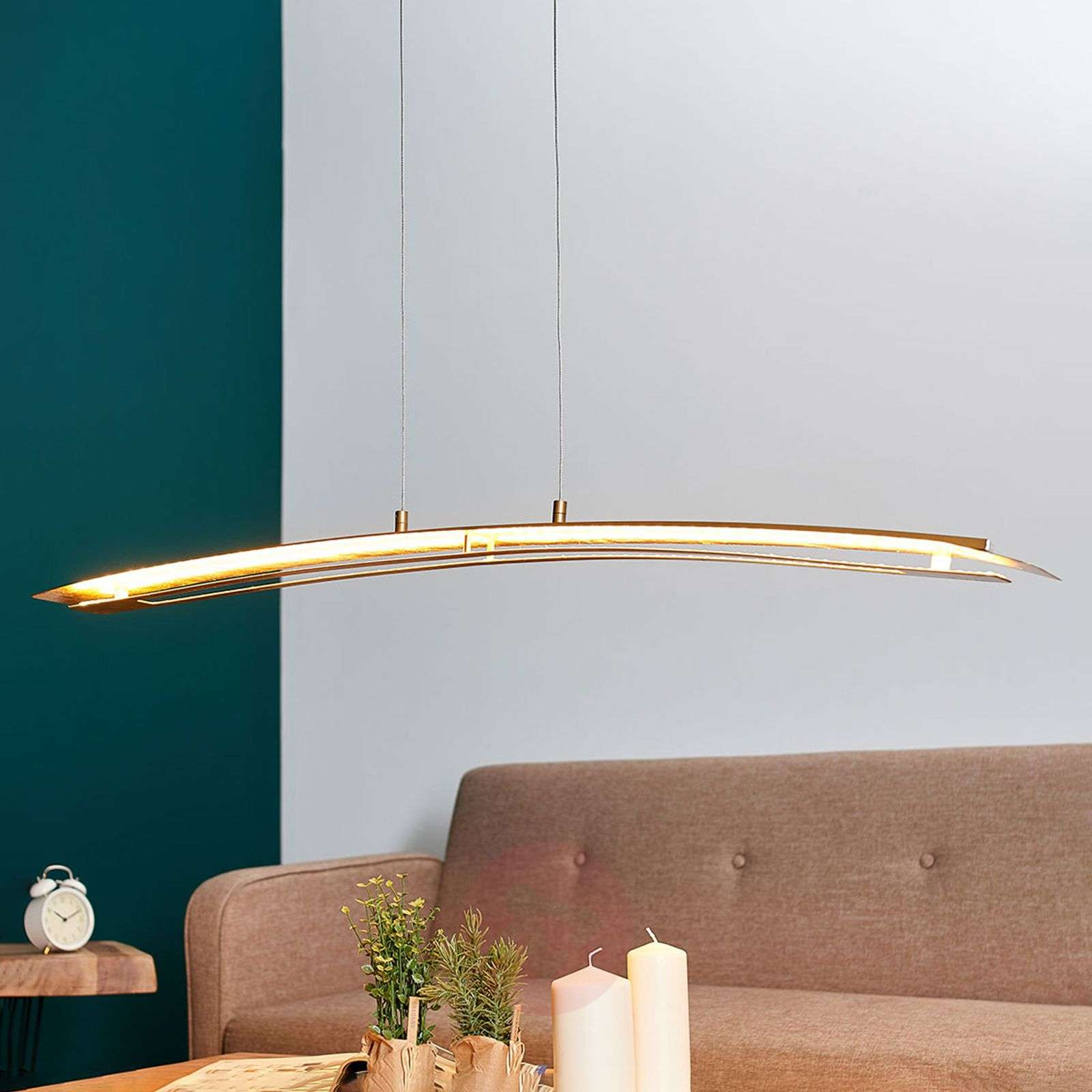 Pitkänomainen LED-riippuvalo Lolina, kulta-9625144-03