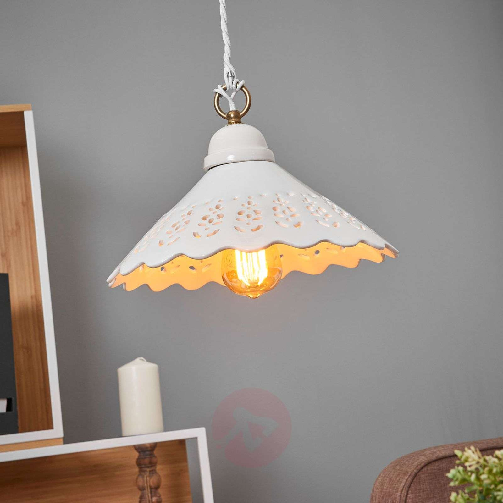 Pizzo-riippuvalaisin, 1-lamppuinen, 30 cm-2013017-01