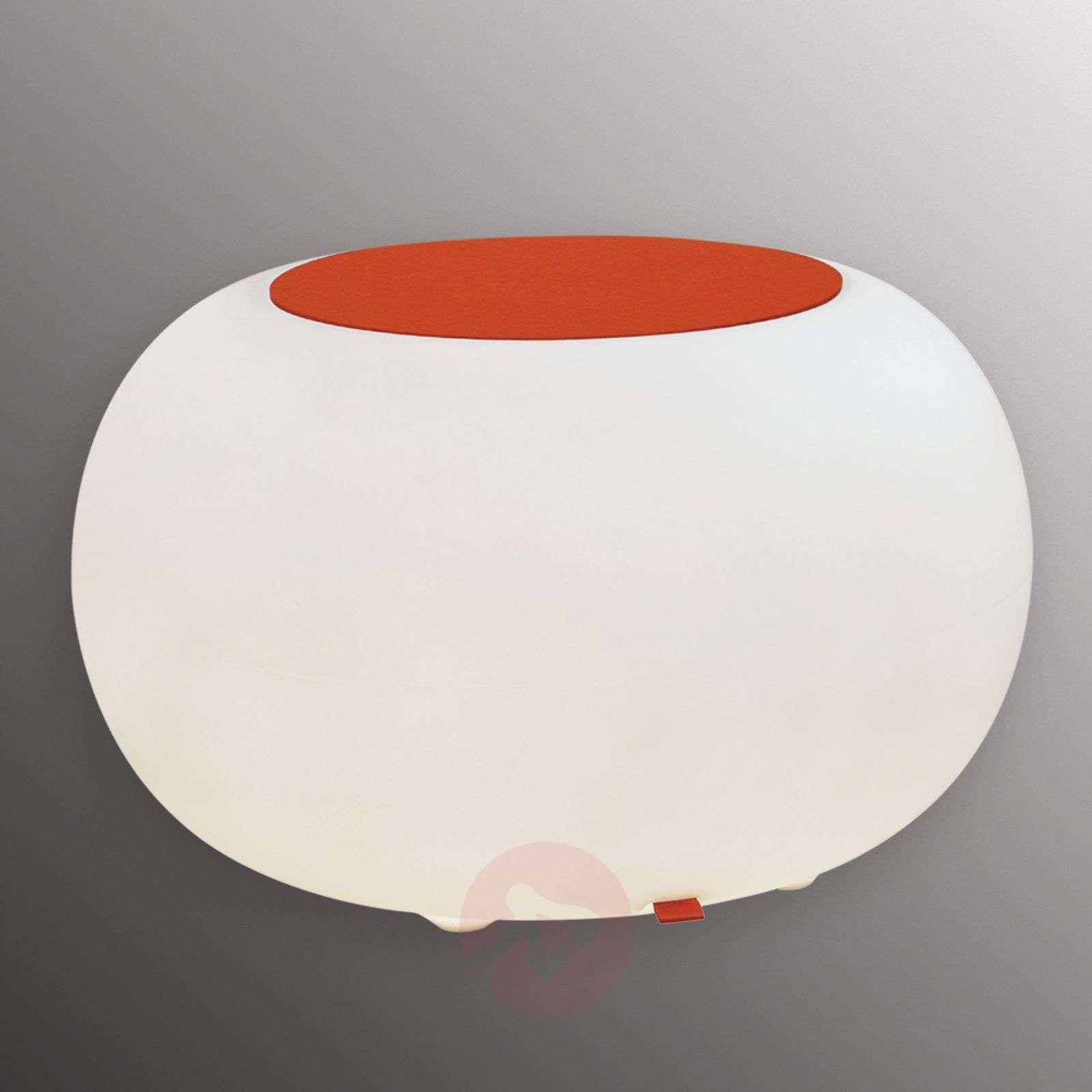 Pöytä Bubble Indoor LED valkoinen + huopa oranssi-6537053-01