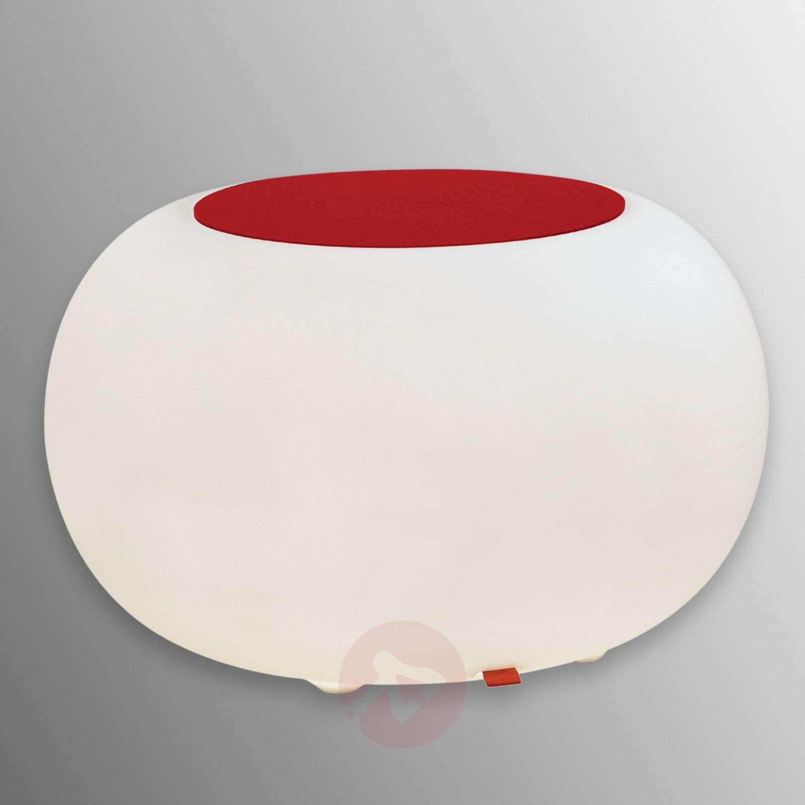 Pöytä Bubble Indoor LED valkoinen + huopa punainen-6537054-01