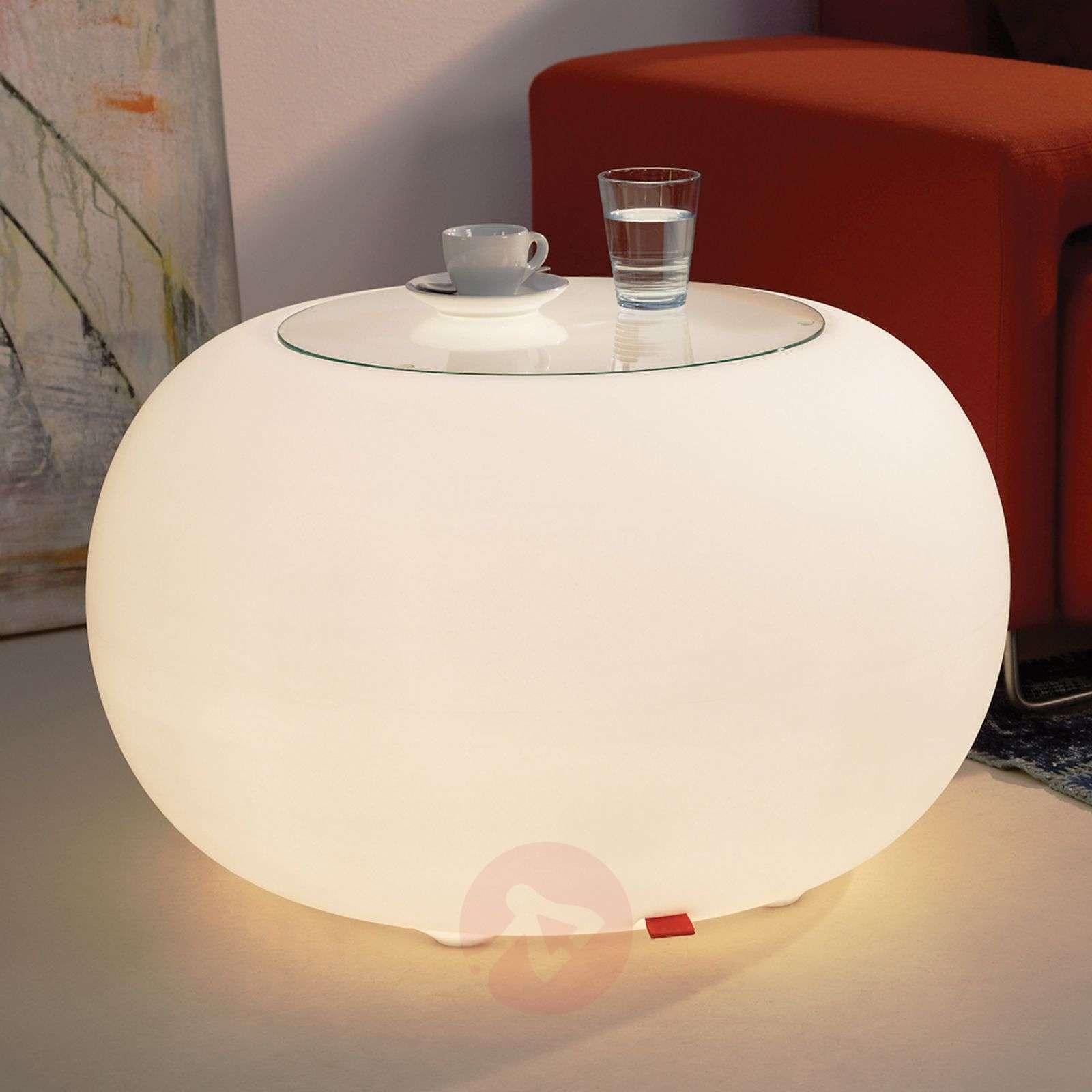 Pöytä Bubble Indoor Led valo valkoinen + lasilevy-6537051-01