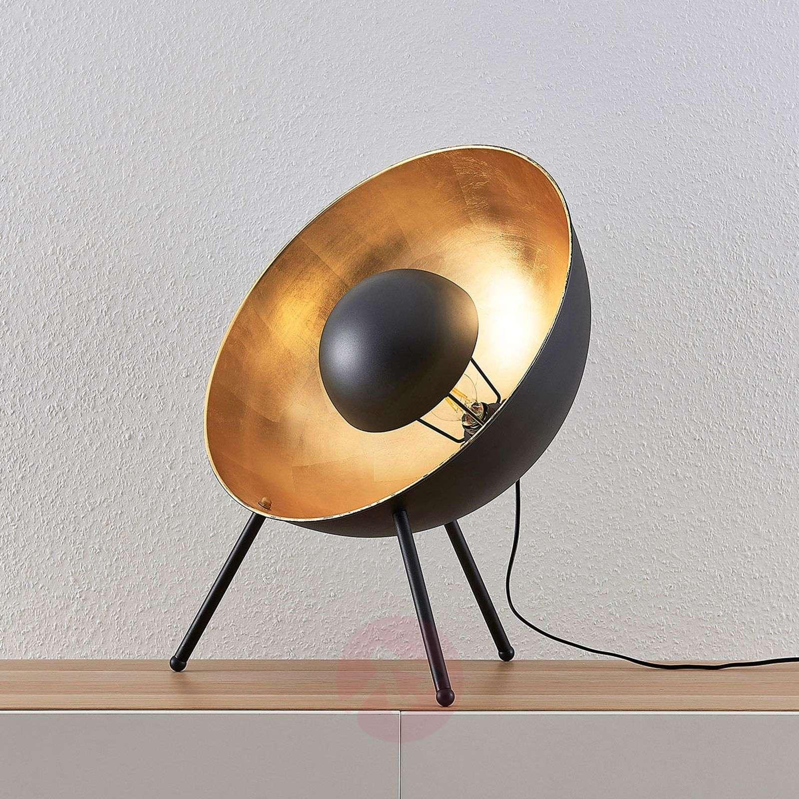 Pöytävalaisin Muriel 3-jalkainen 60 cm musta/kulta-9624224-02
