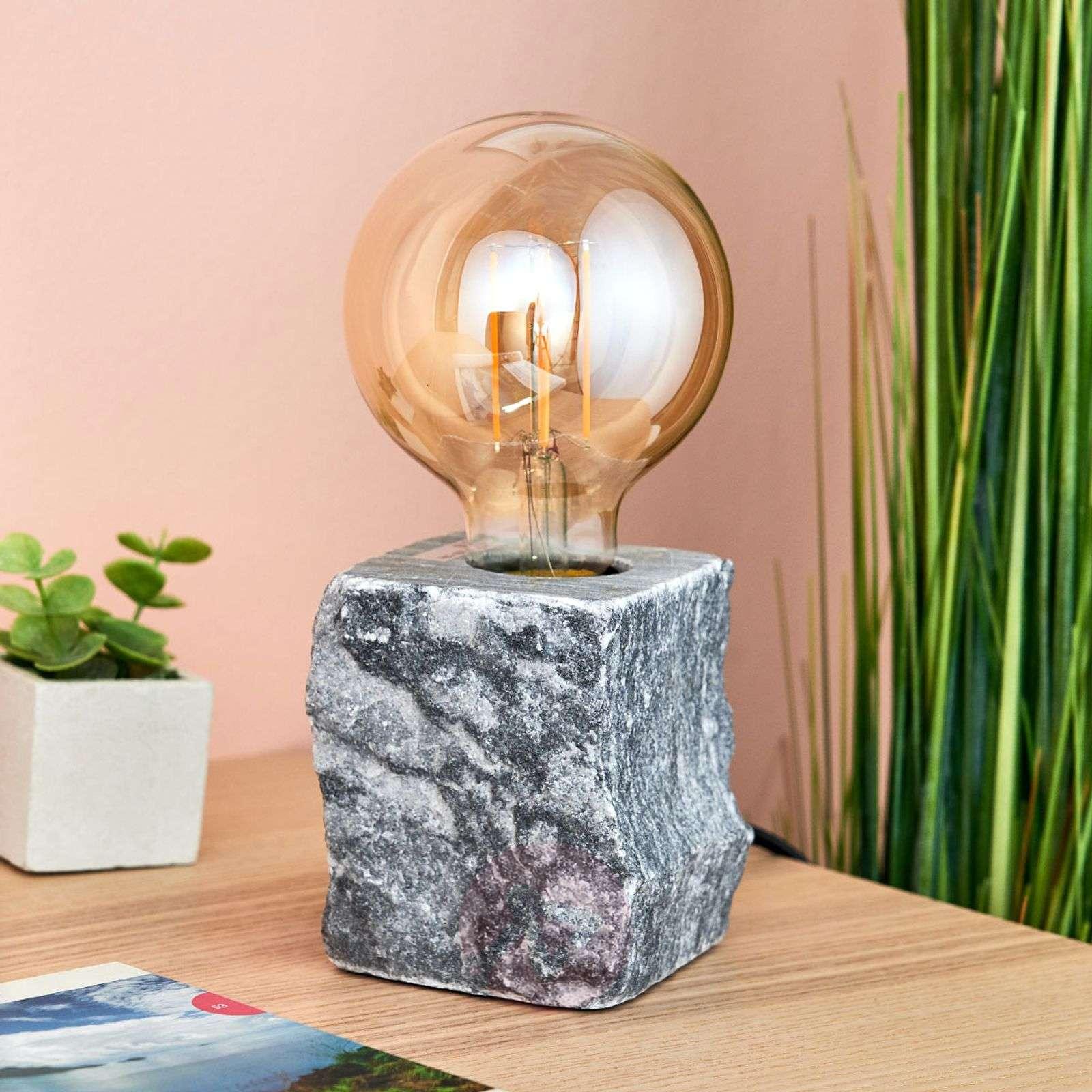 Pöytävalaisin Stone harmaata marmoria-8032147-02