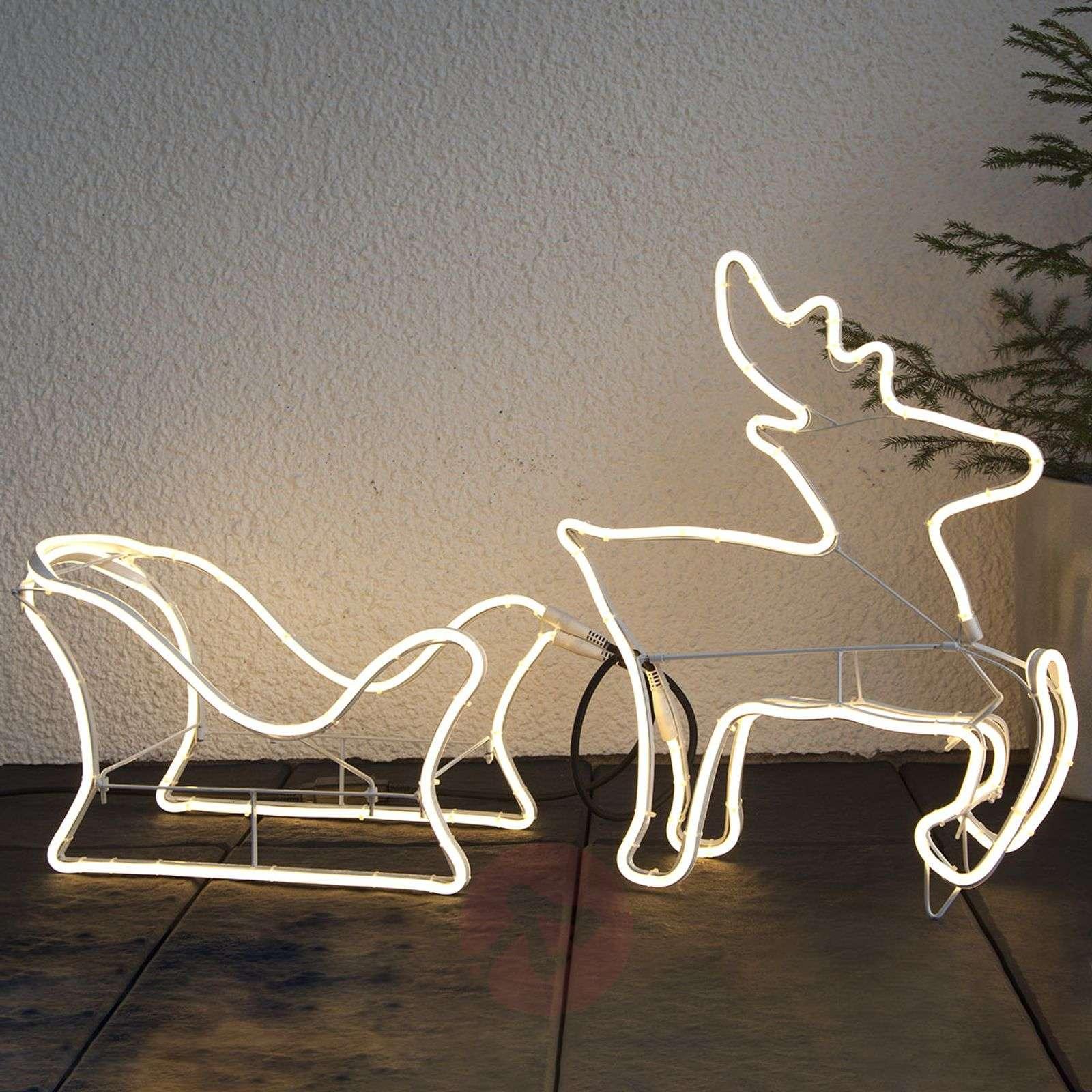 Porokelkka-siluetti LED-koristefiguuri NeoLED-1523461-01