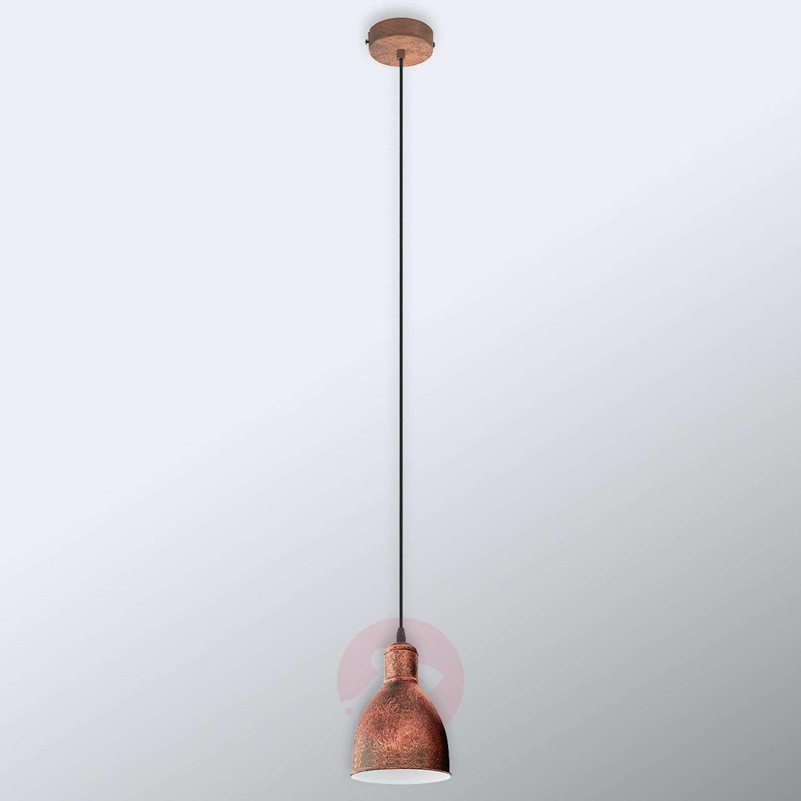 Priddy 1 vintage-riippuvalo 1-lampp antiikkikupari