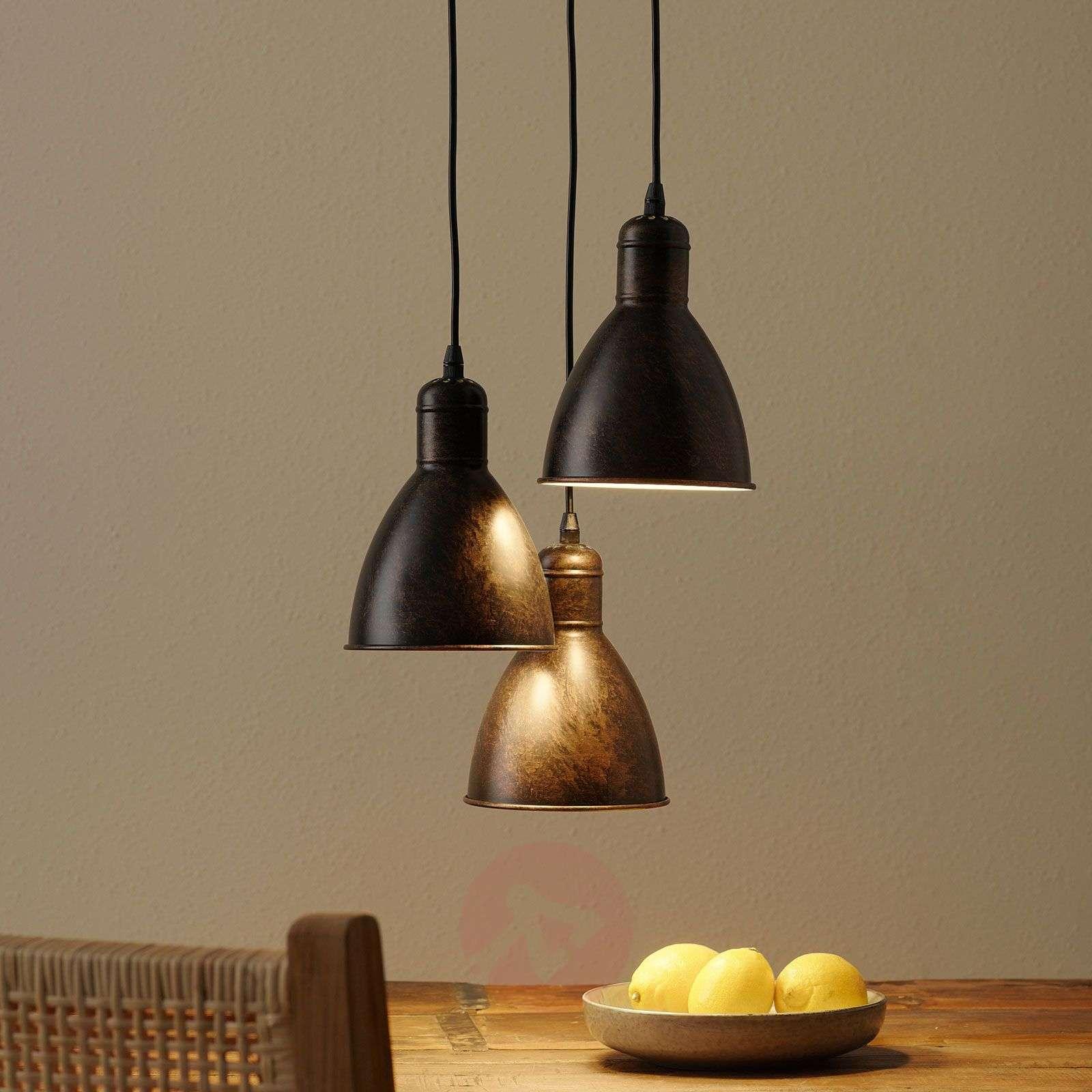 Priddy 1 vintage-riippuvalo 3-lampp antiikkikupari-3031784-011