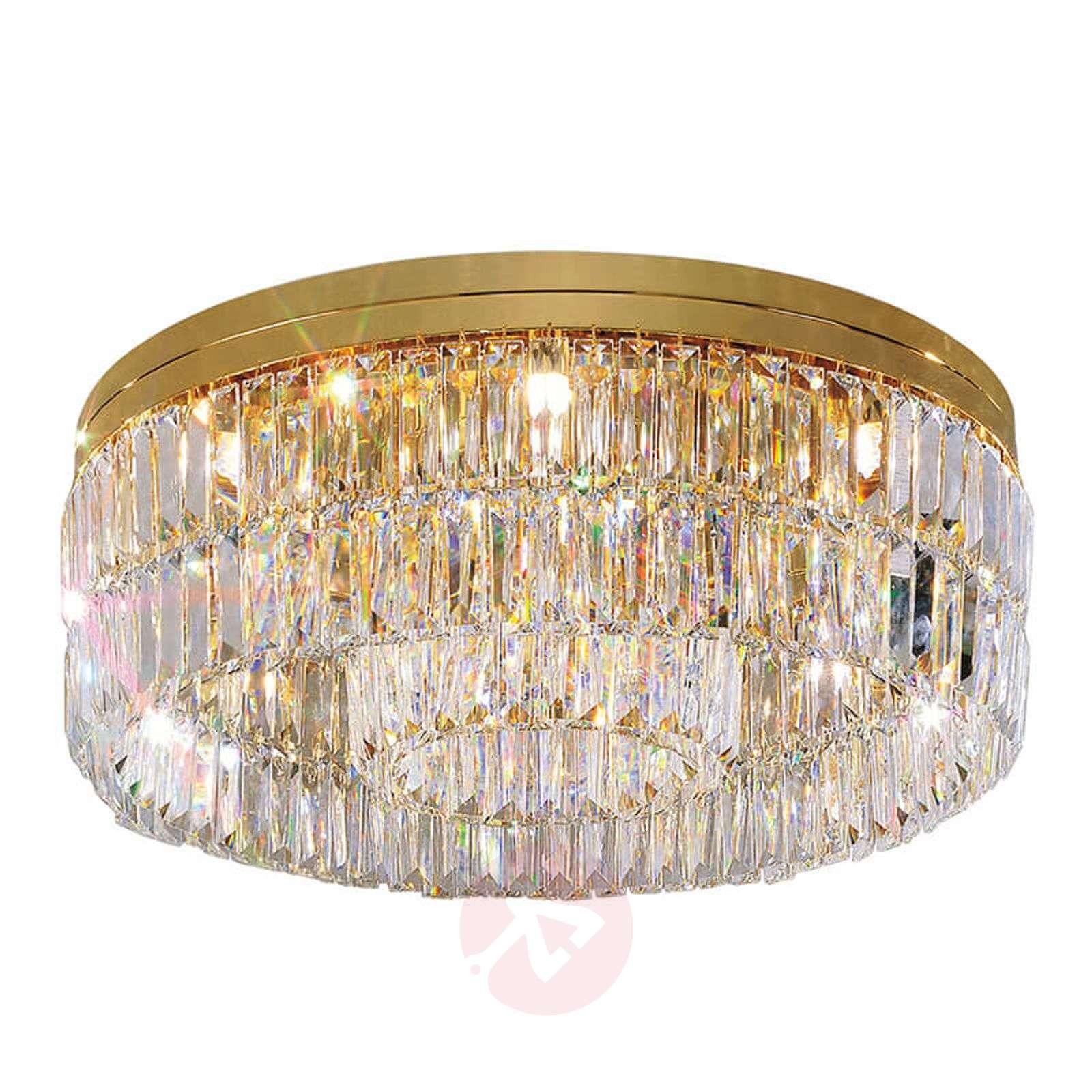 LED kattovalaisin Led Easy Ø 38cm, harjattu teräs
