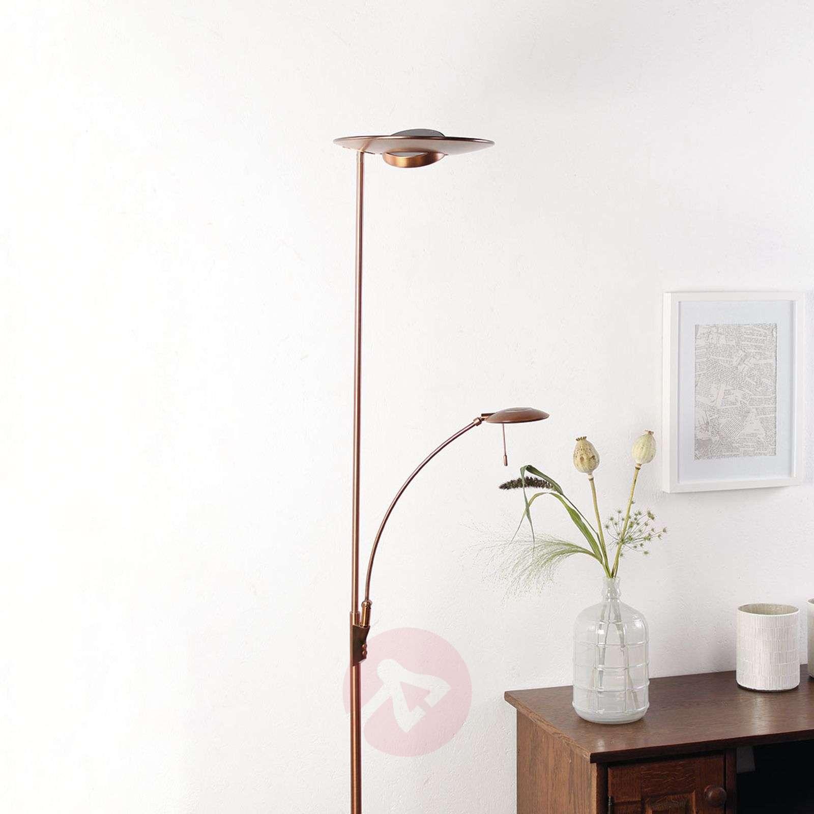 Pronssinvärinen LED-lattiavalaisin Zenith, himm.-8509714-01