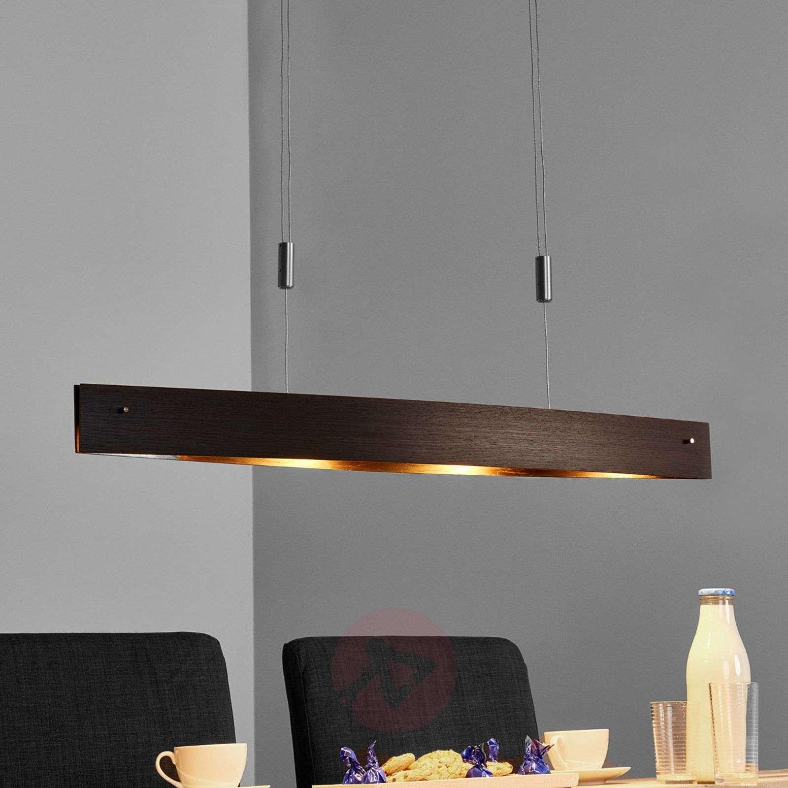 Puinen LED-riipusvalaisin Malu - korkeussäädettävä
