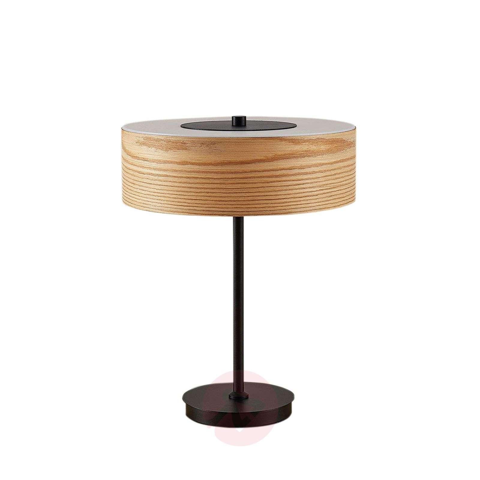 Puinen pöytälamppu Dominic, pyöreä malli-9624344-01