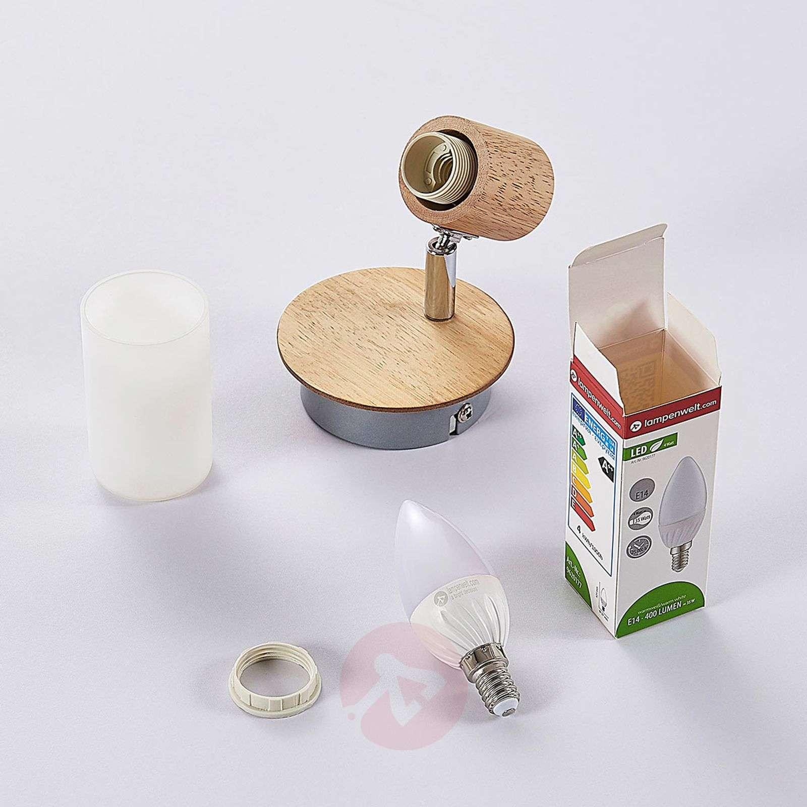 Puinen spottivalo Christoph, LED-lamppu-9621823-012