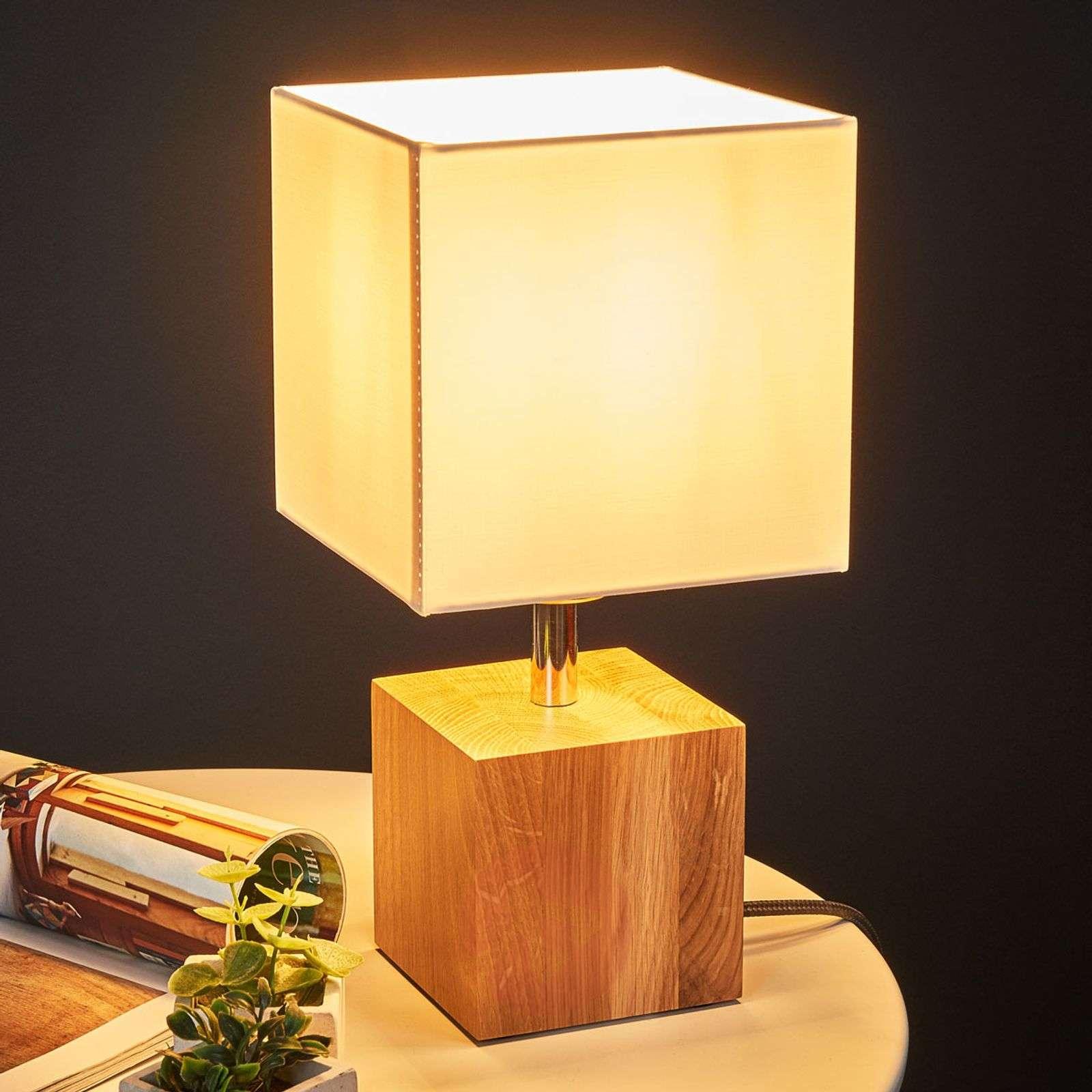 Puinen Trongo-pöytälamppu, antrasiitti johto-8574289-01