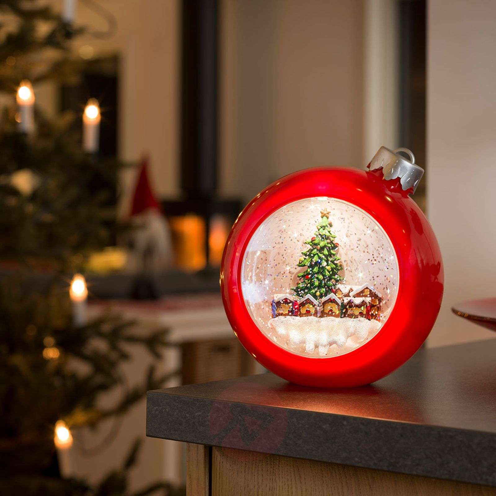 Pun. LED joulukuusen pallo joulumark. vesitäyt.-5524863-01