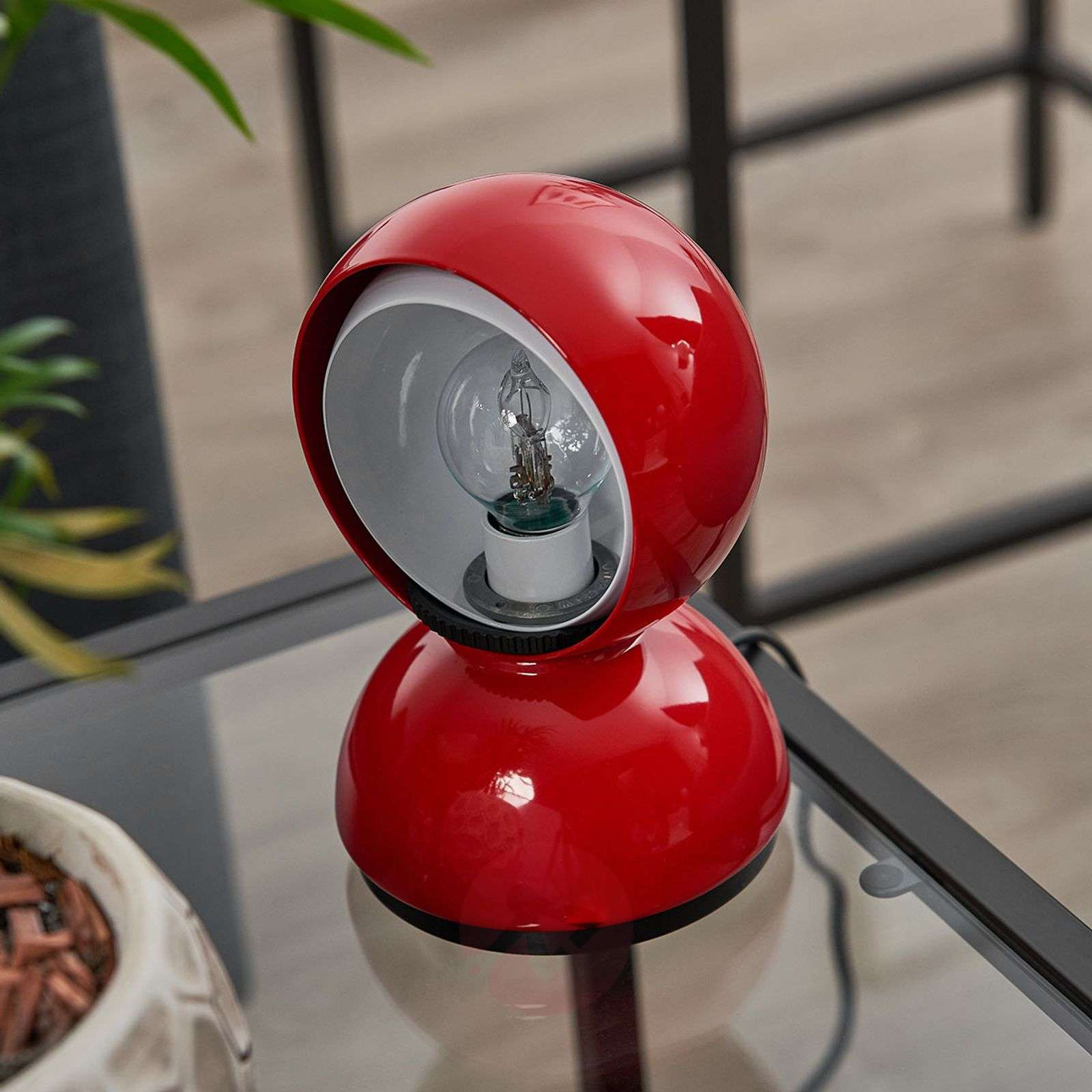 Punainen design-pöytävalaisin Eclisse-1060020-01