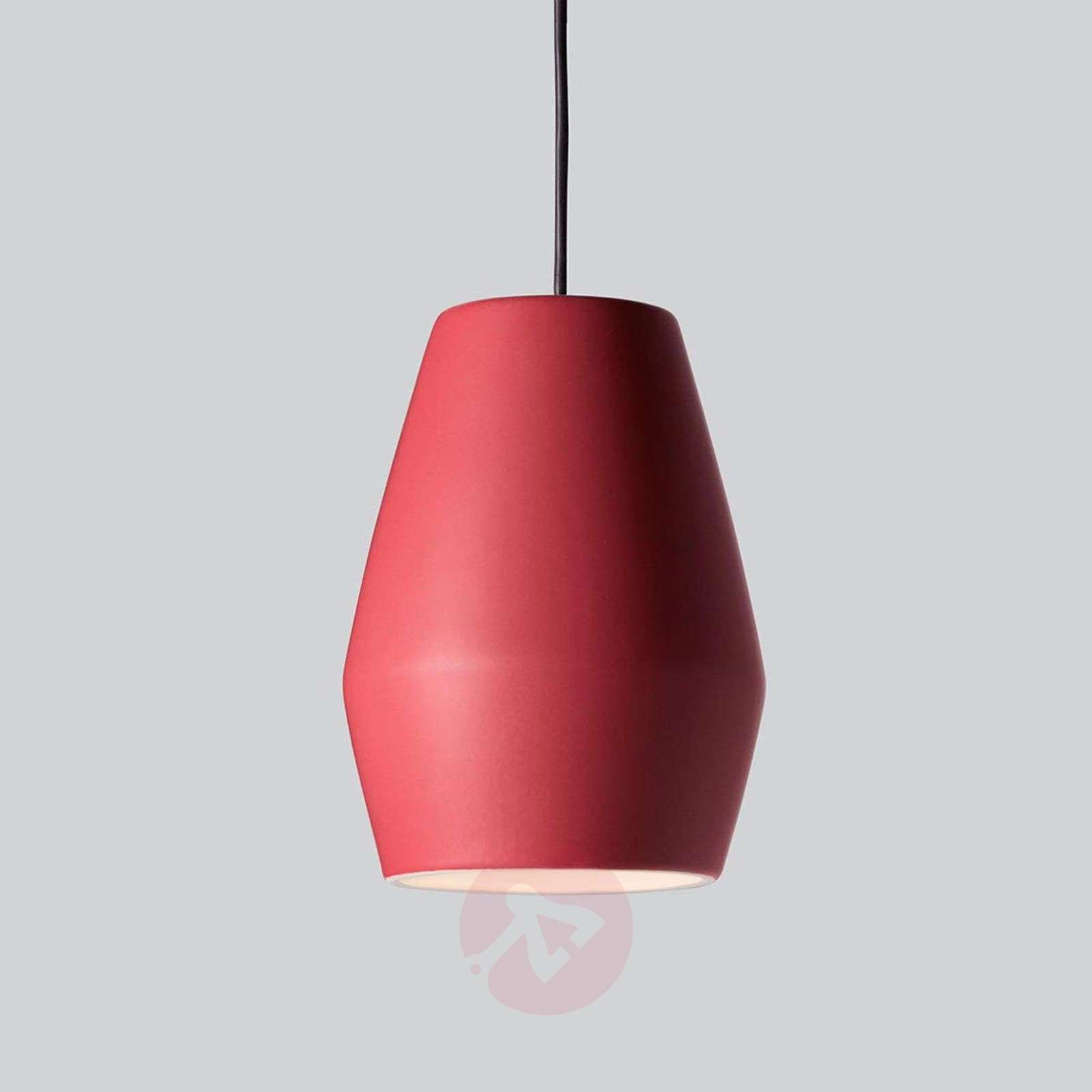 Punainen posliiniriippuvalaisin Bell, matta-7013101-01