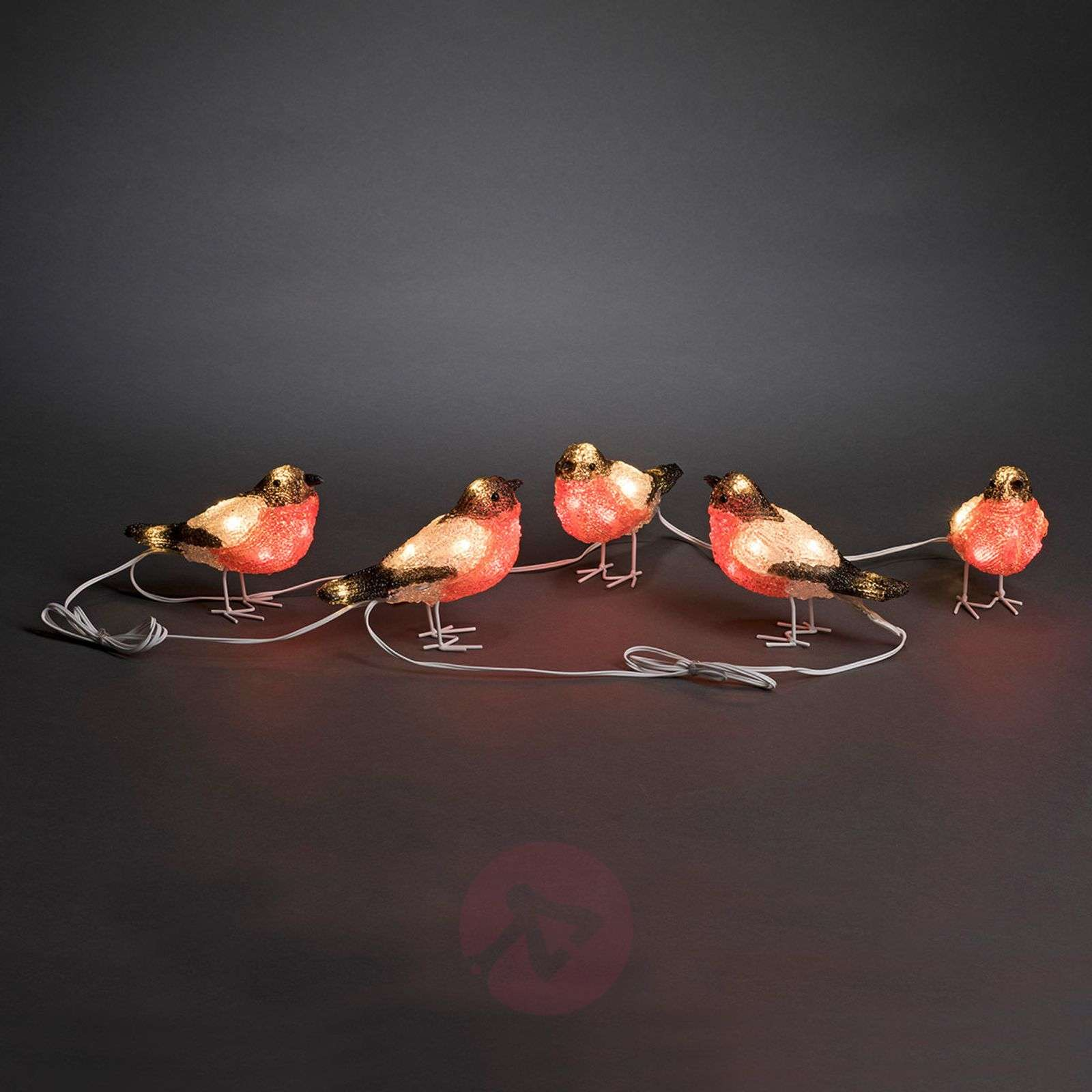 Punarinta LED-akryyli-valofiguuri, 5 kpl:n setti-5524873-01