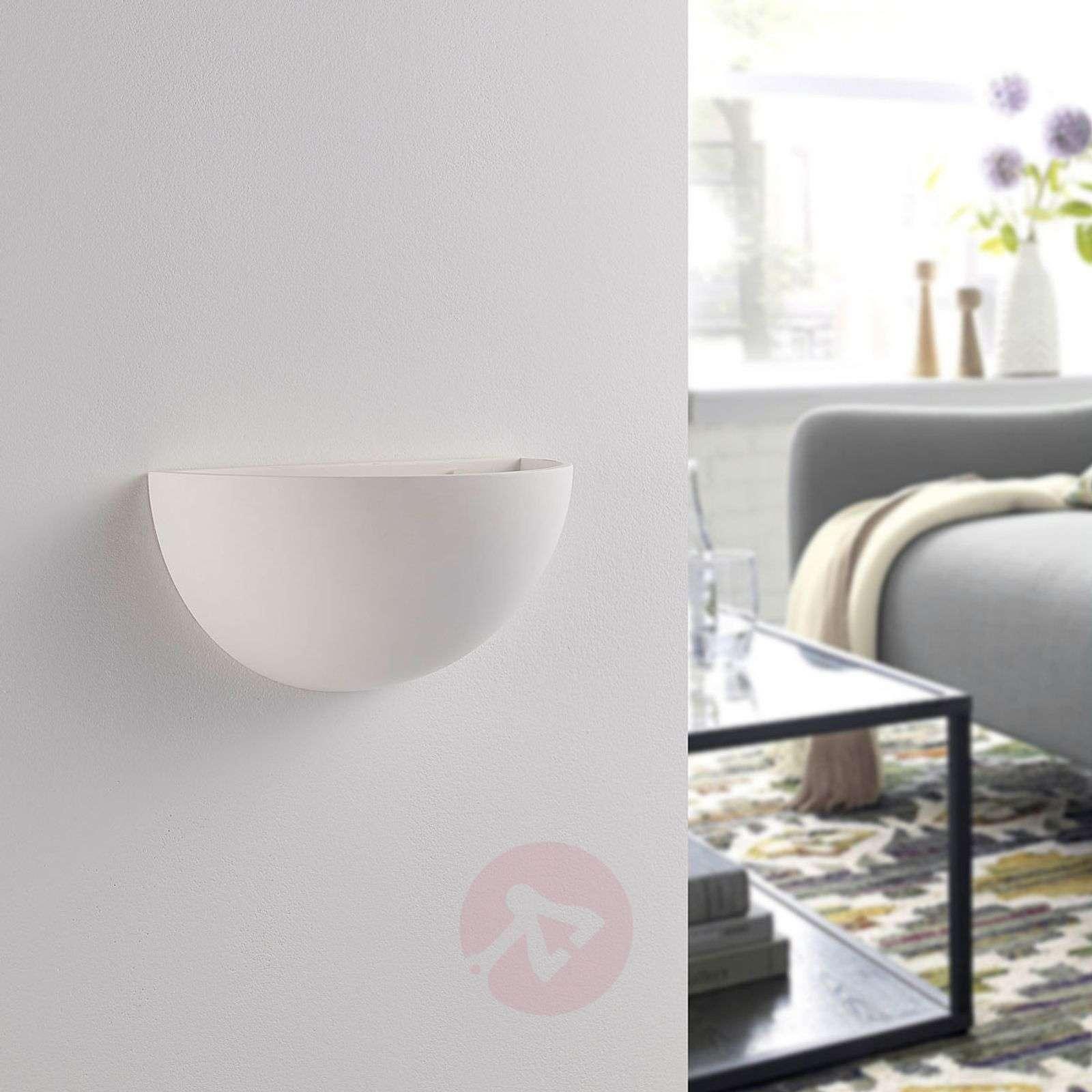 Puolipyöreä LED-seinävalo Narin, kipsi valkoinen-9621319-01