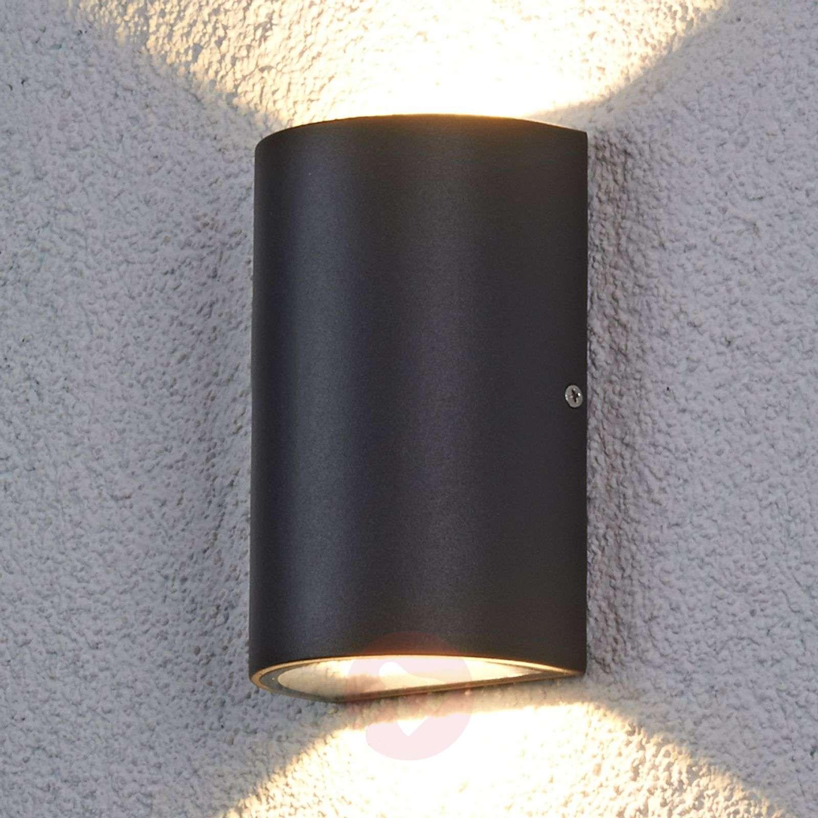 Puoliympyrä LED-ulkoseinävalaisin Jale, 2 x 6 W-9618016-01