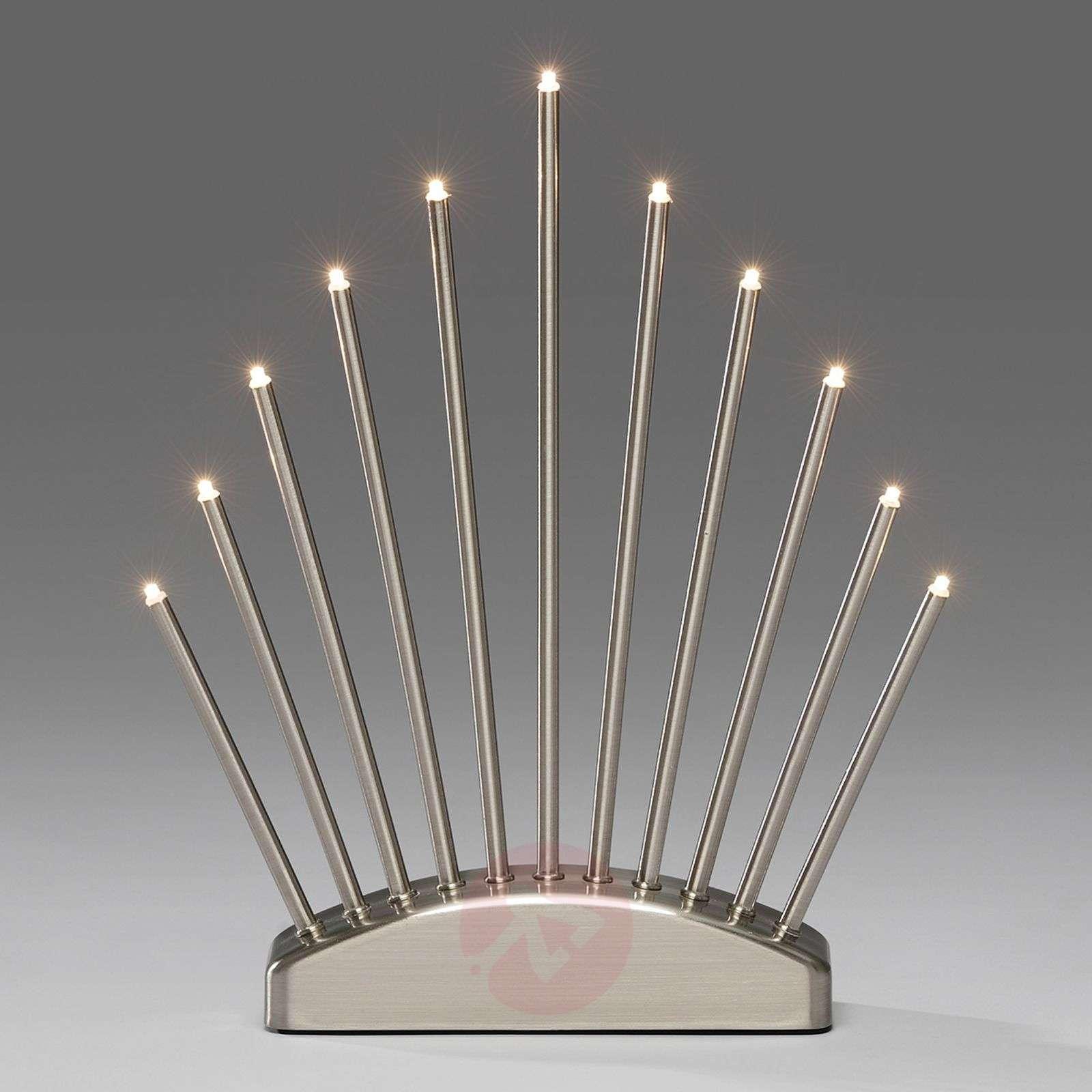 Puristinen LED-kynttelikkö Menja harjattu-5524494-01