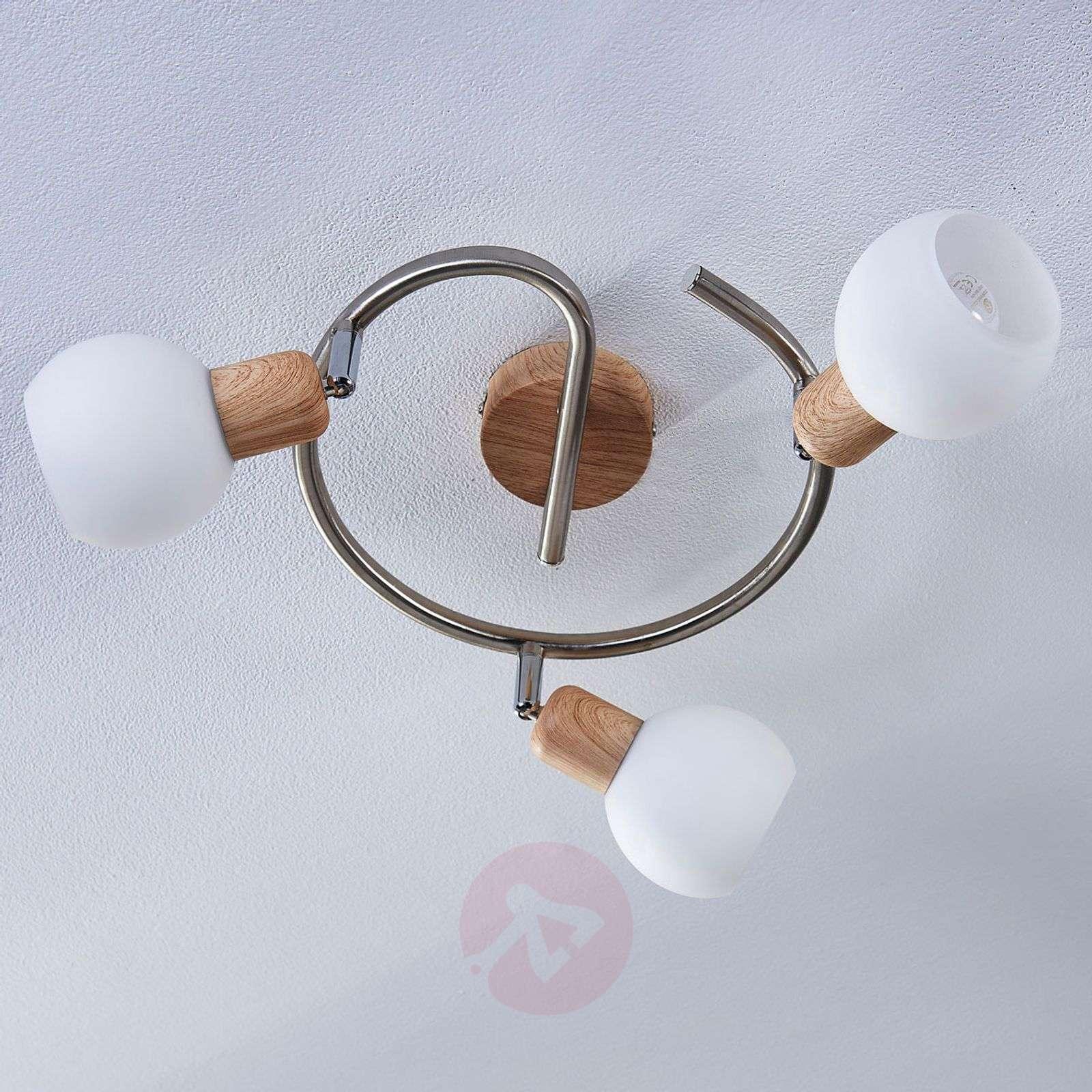 Puupintainen kattorondell Svenka, LED, E14-9621049-02