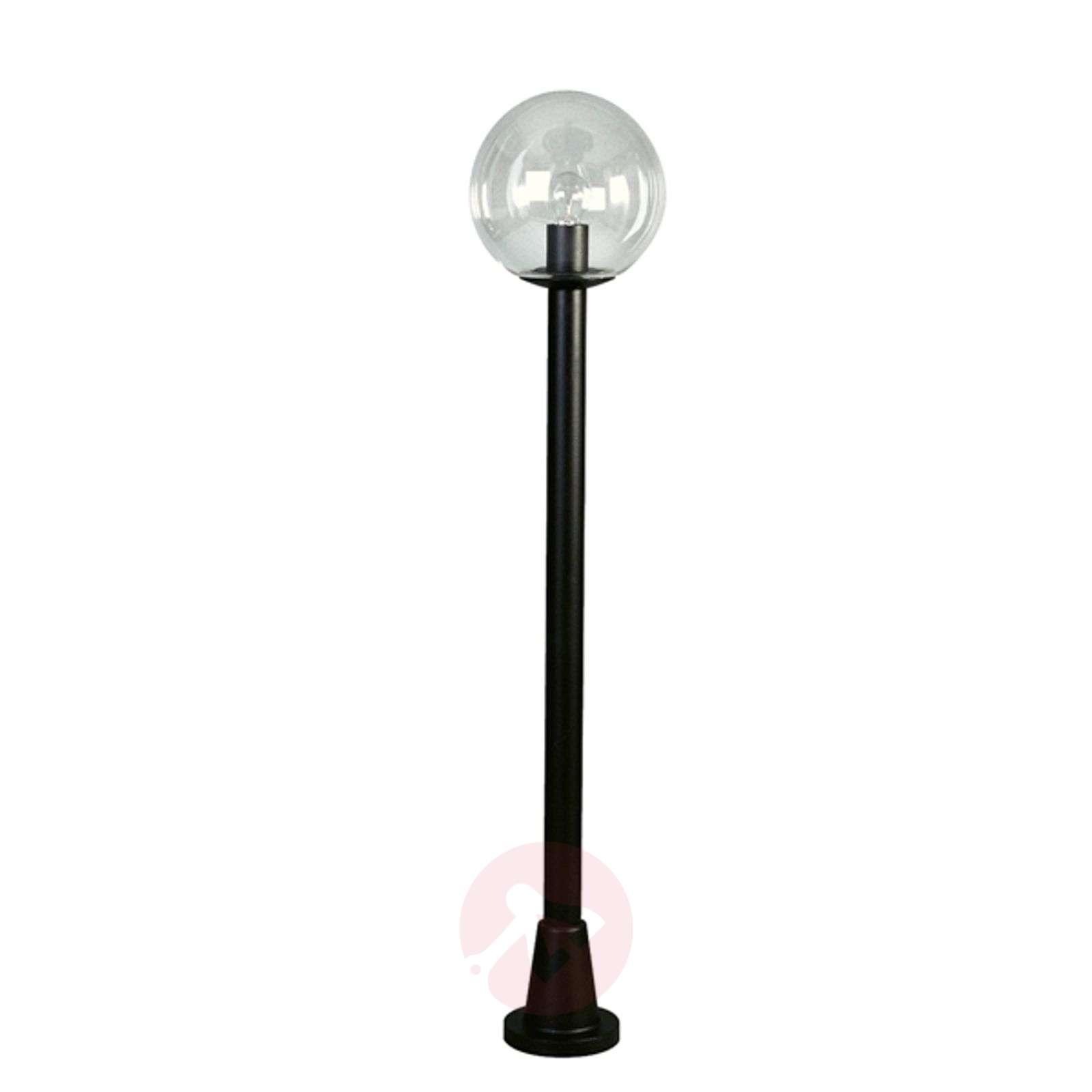 Pylväsvalaisin kirkkaalla kristallipallolla, musta-4001118-01