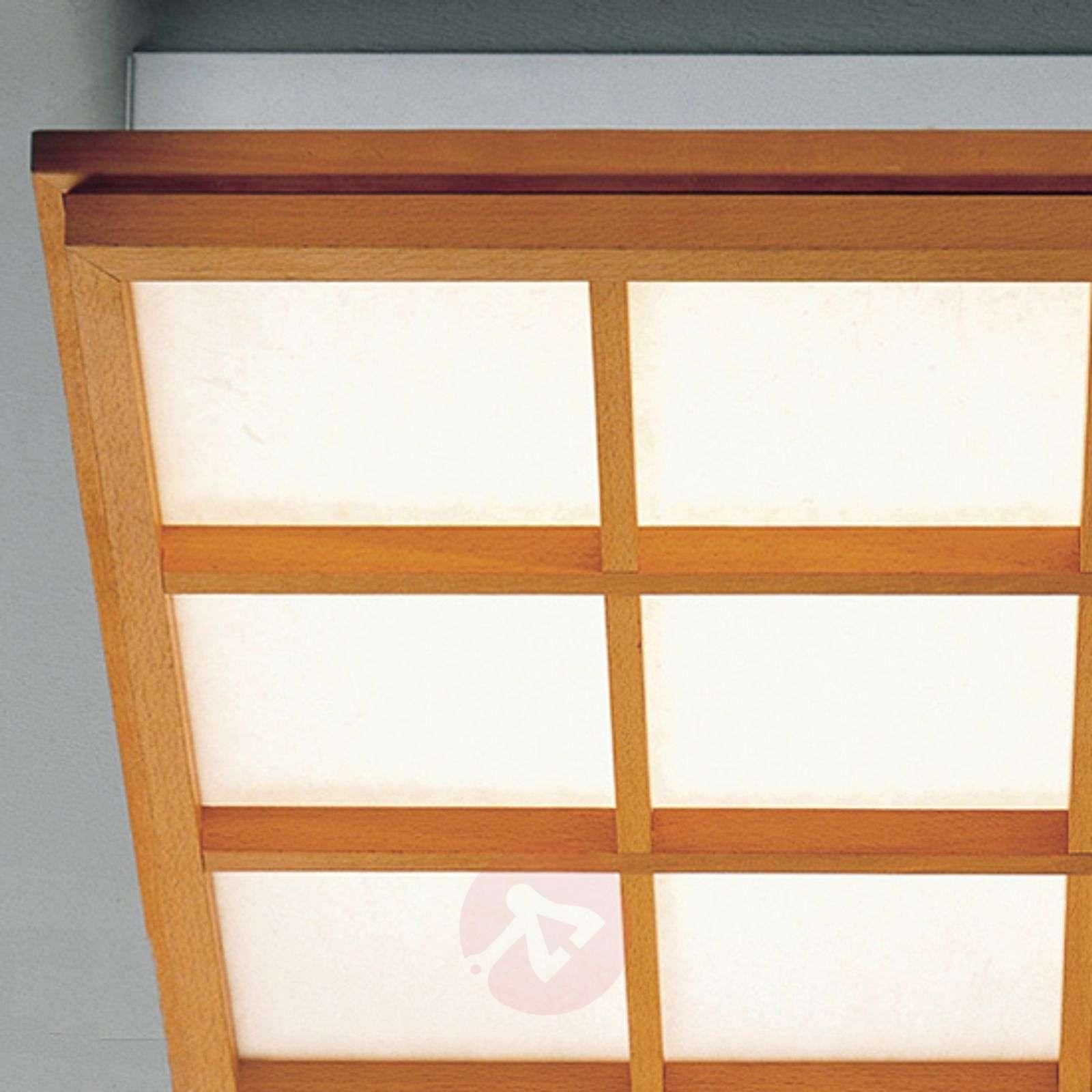 Pyökkipuinen kattolamppu Kioto9 led-lampulla-2600513-01
