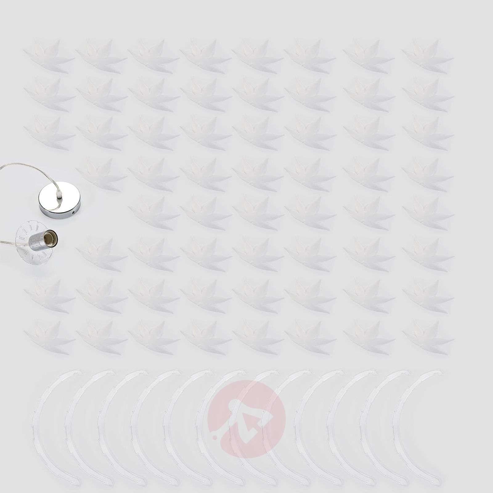 Pyöreä Corin-riippuvalaisin, valkoinen-9621142-02
