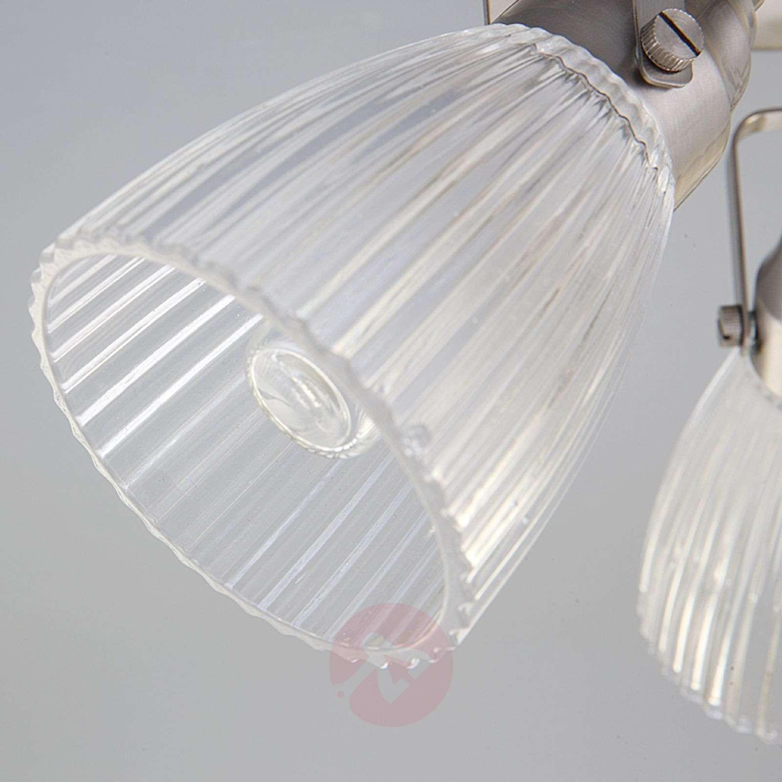 Pyöreä kh LED-kattovalaisin Kara, uritettu lasi-9620684-07