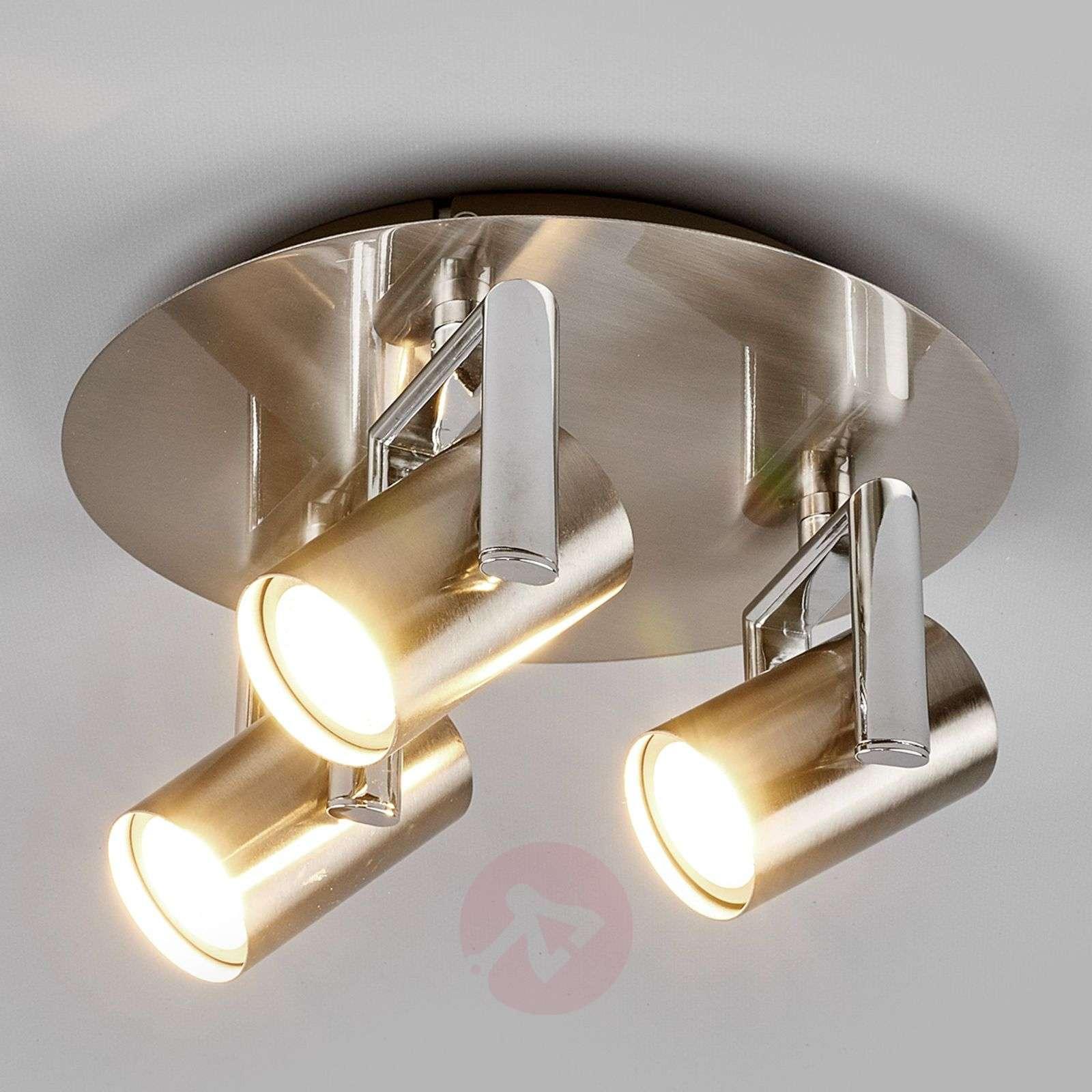 Pyöreä LED-kattovalaisin Luciana, 3-lamppuinen-9975026-01