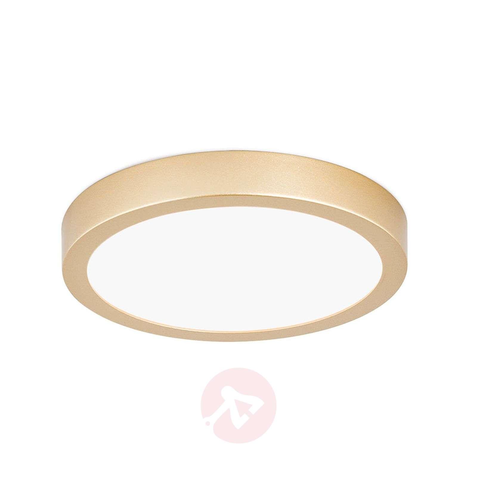 Pyöreä LED-kattovalaisin Vika, matta kulta-7255272X-01