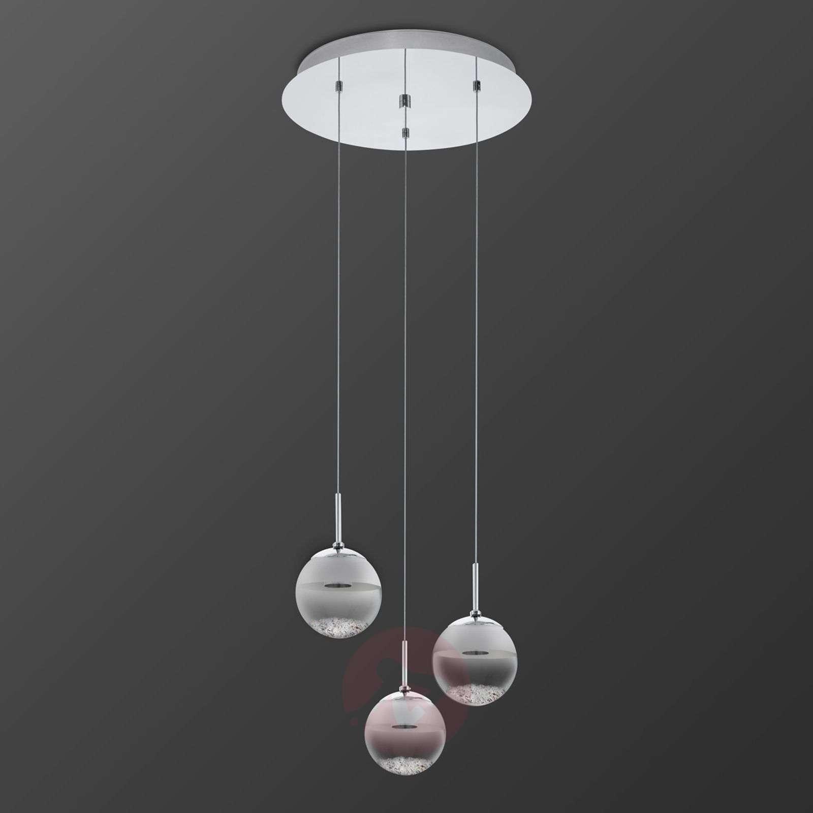 Pyöreä LED-riippuvalaisin Montefio, kristalli, 3-l-3031616-01